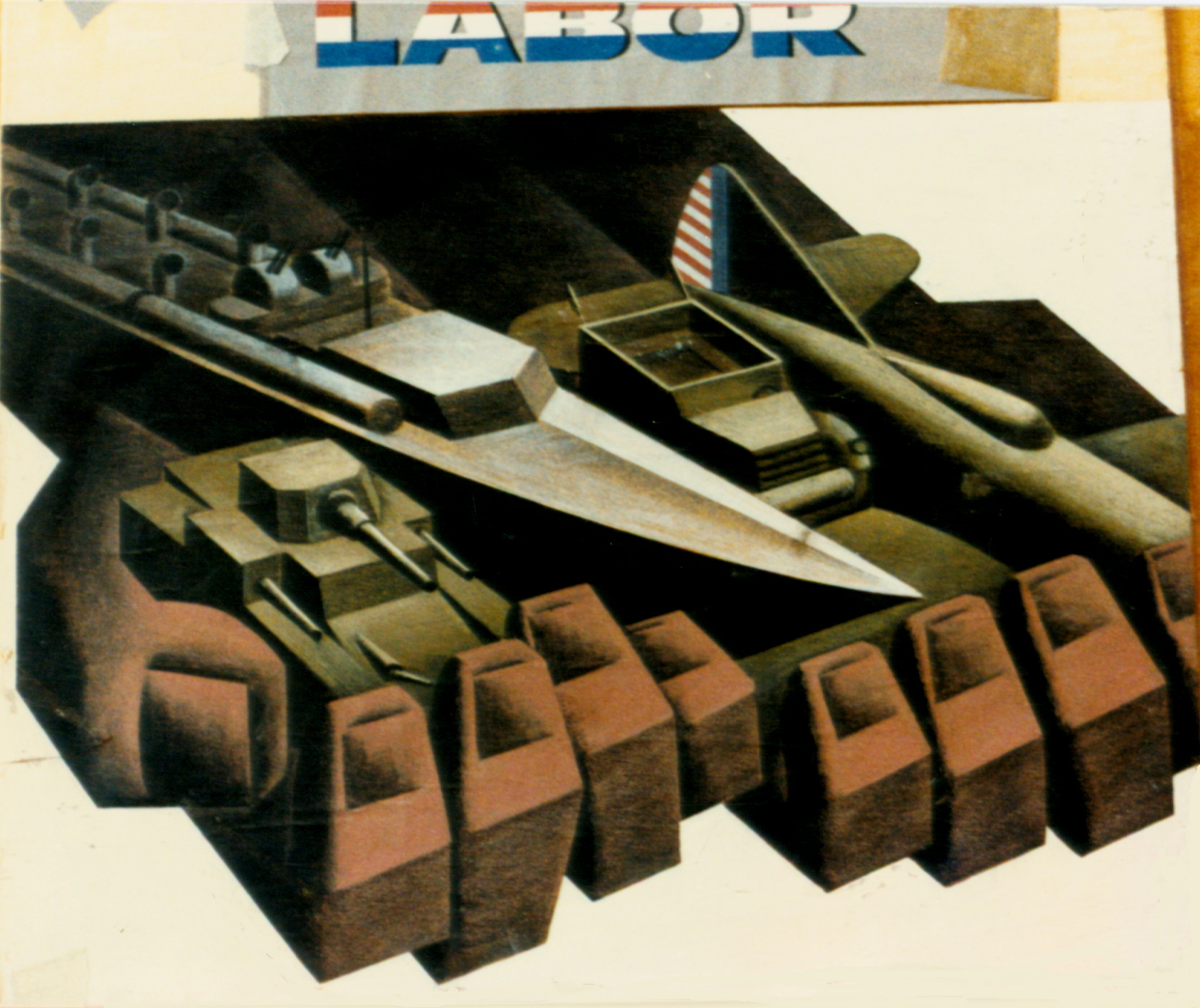 """Labor - We Produce"" - Size: 25 sq. ft. - Gustav Rehberger"