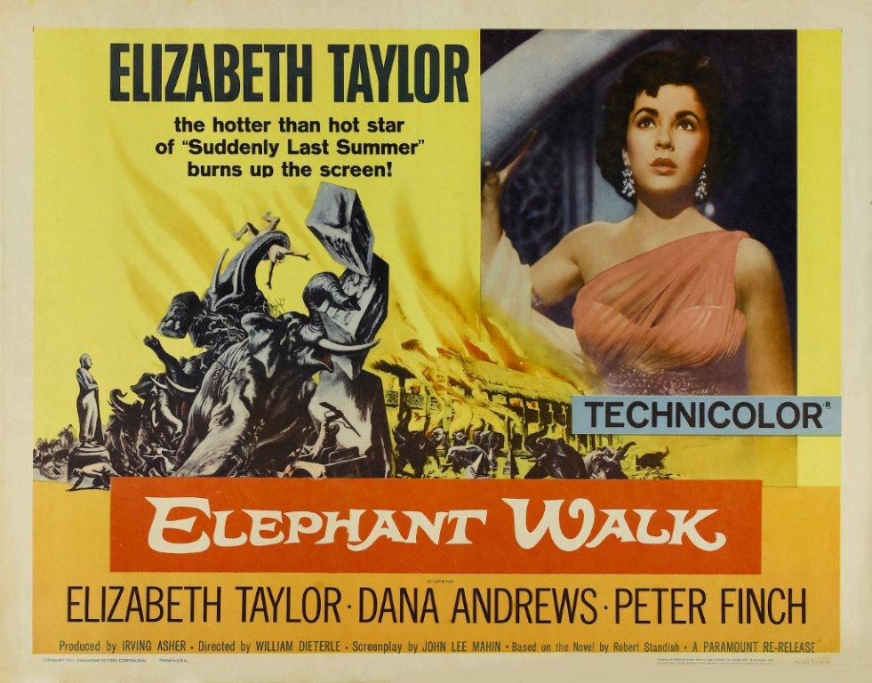 """Elephant Walk"" starring Elizabeth Taylor & Peter Finch (Warner Bros.)"
