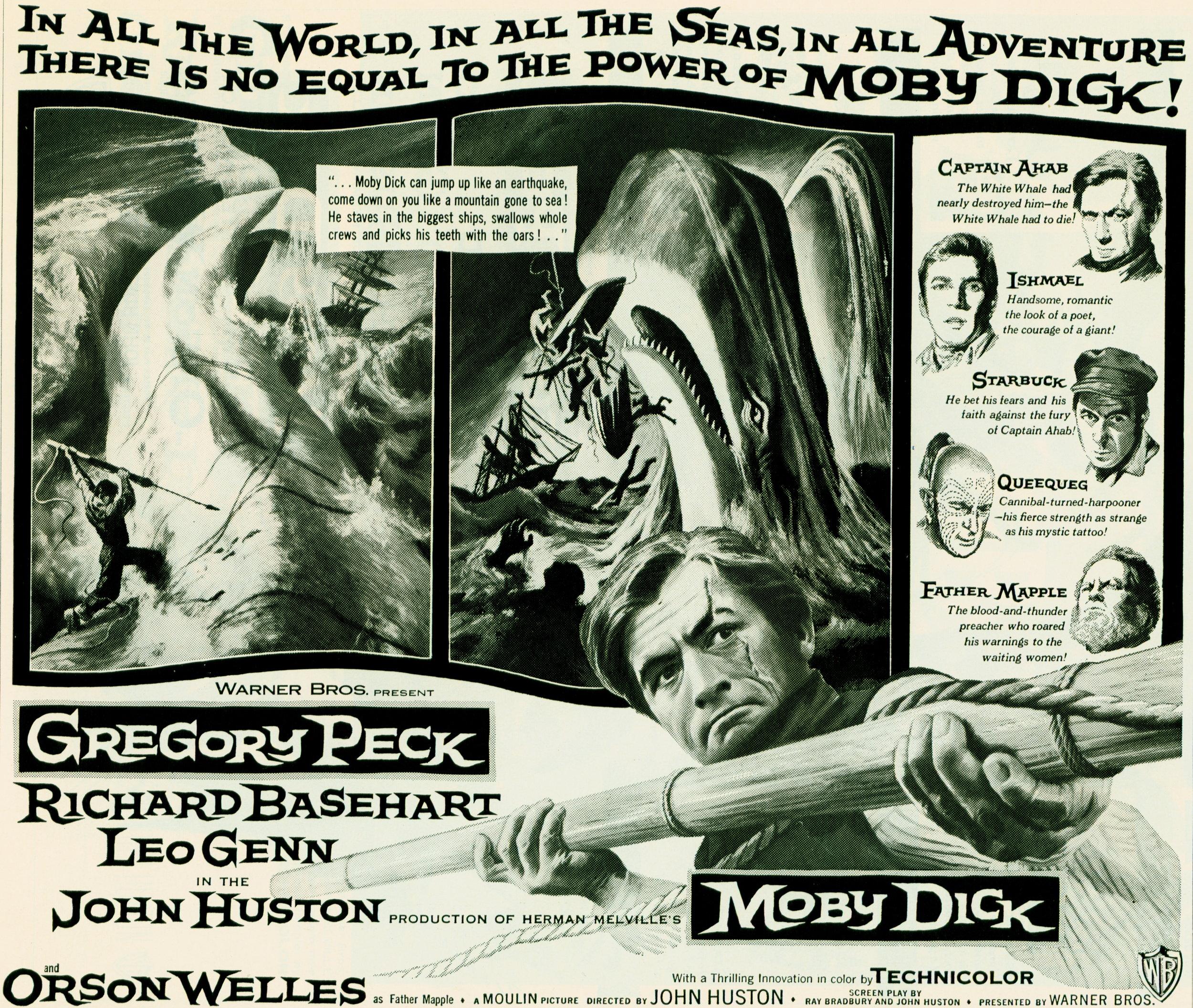 """Moby Dick"" starring Gregory Peck (Warner Bros. Pressbook)"