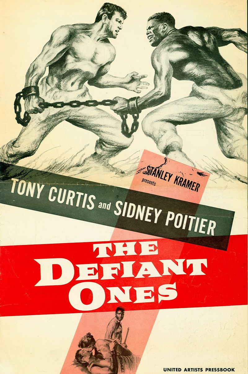 """The Defiant Ones"" starring Tony Curtis & Sidney Poitier (United Artists)"