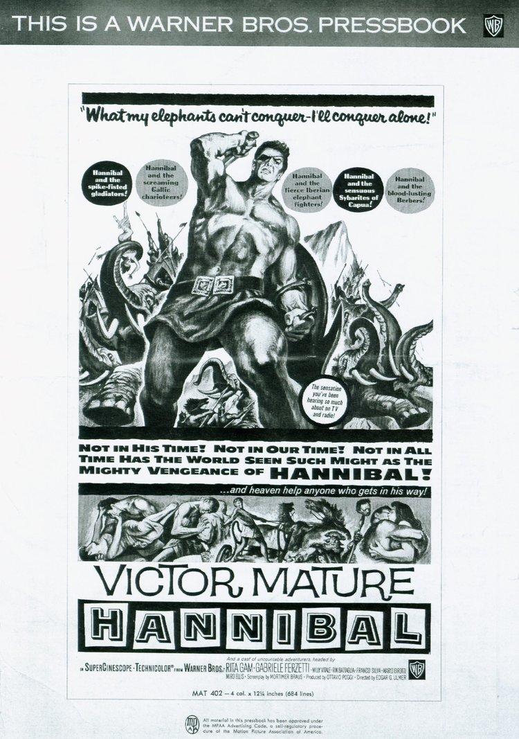 """Hannibal"" starring Victor Mature (Warner Bros.)"