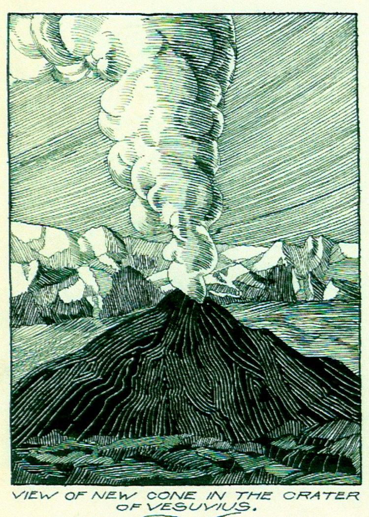 Dec 5, 1927 - Mt. Vesuvius Volcano (Pen & Ink, Wash)