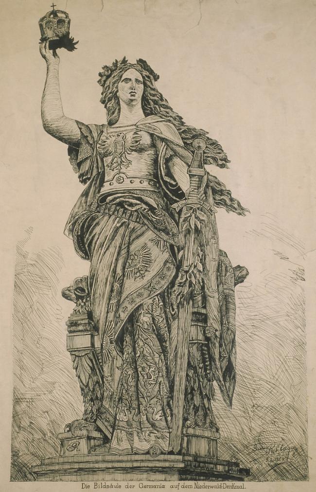 May 1, 1924 - Niederwald Monument, (Pen & Ink, 24x19) Evangelical Lutheran School, Chicago