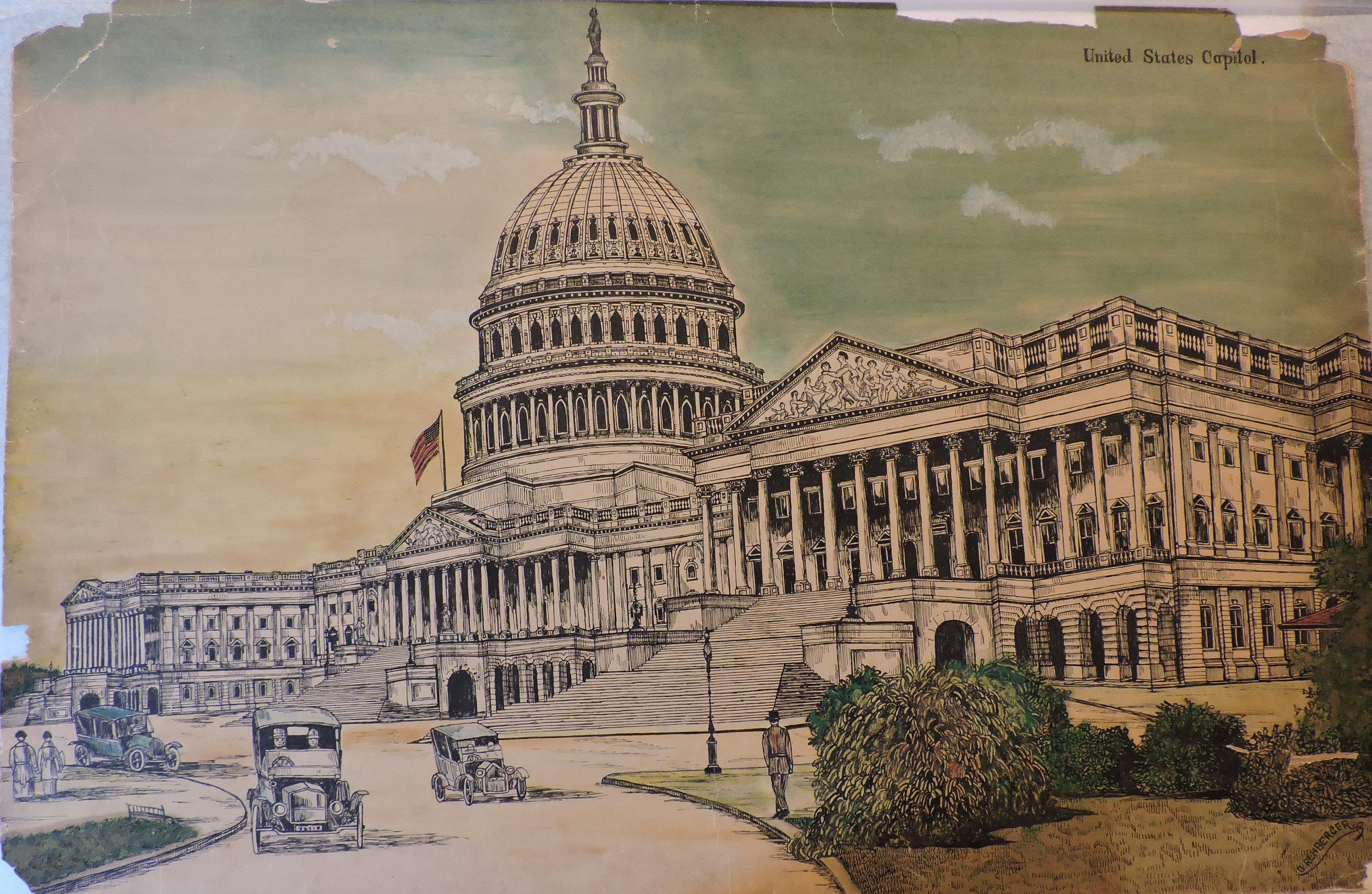 1926 - US Capitol (Pen & Ink, Wash 20 x 30)
