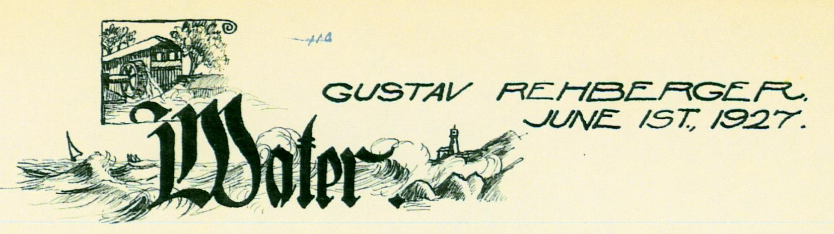 Jun 1, 1927 - Water (Pen & Ink)