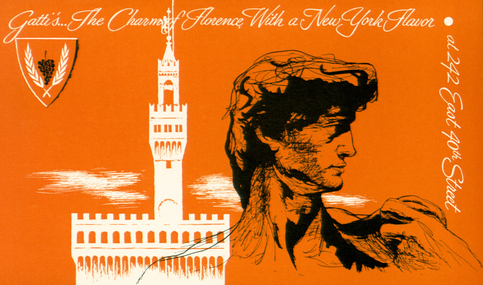 "1965 - ""The Charm of Florence with a New York Flavor"""