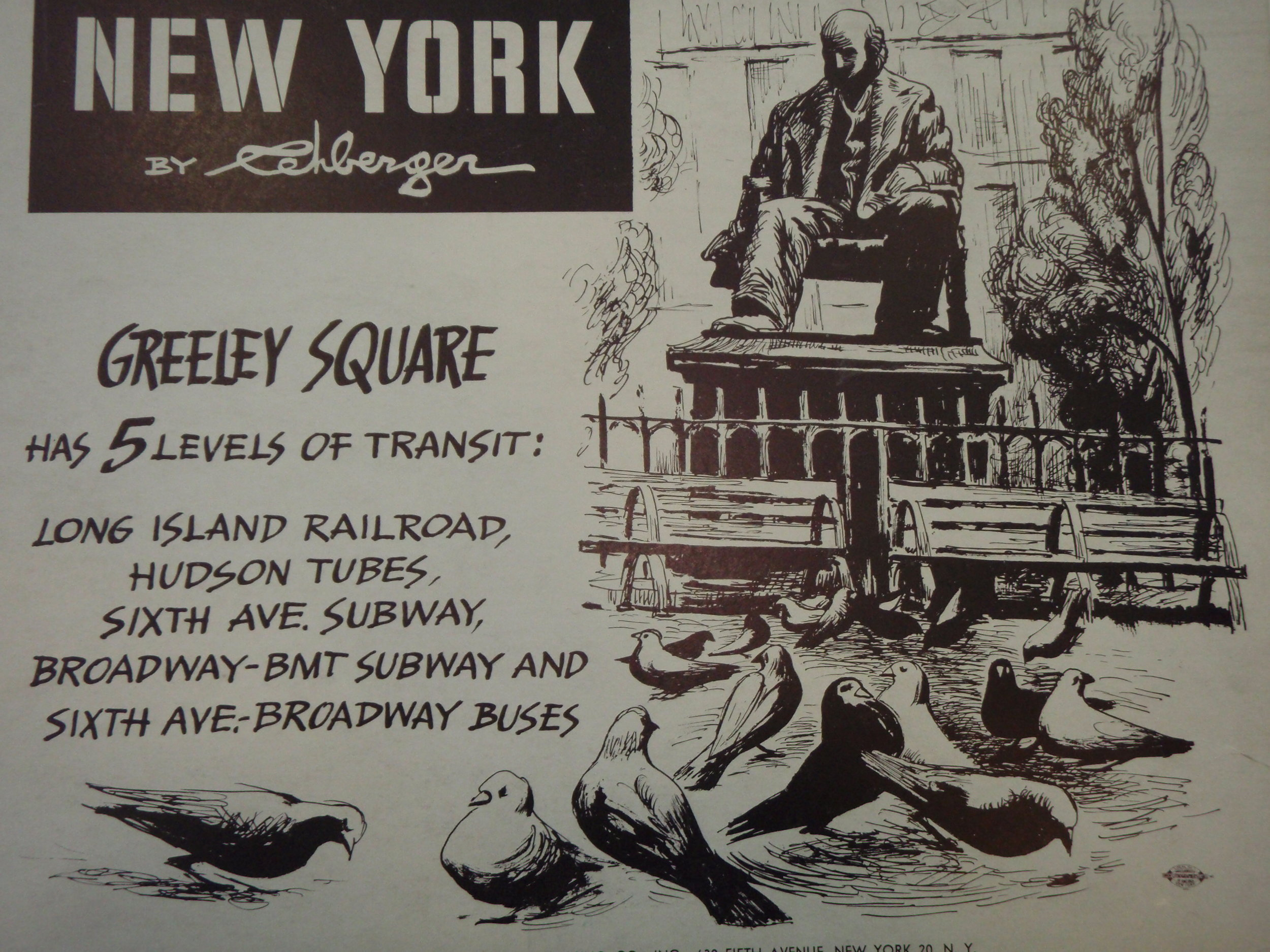 NEW YORK by REHBERGER  1948 #3   Subway Poster -  New York Subways Advertising Co..JPG