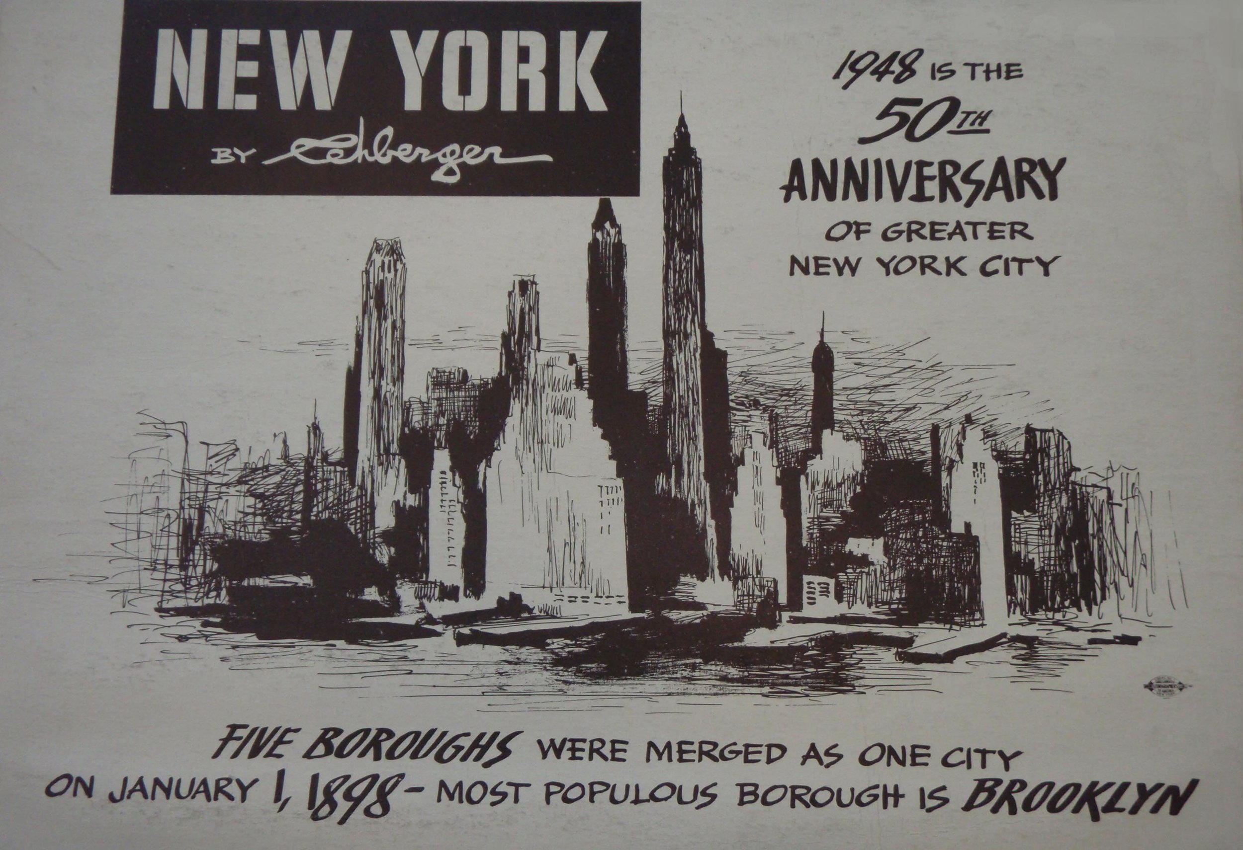 NEW YORK by REHBERGER  1948 #8   Subway Poster - New York Subways Advertising Co..JPG