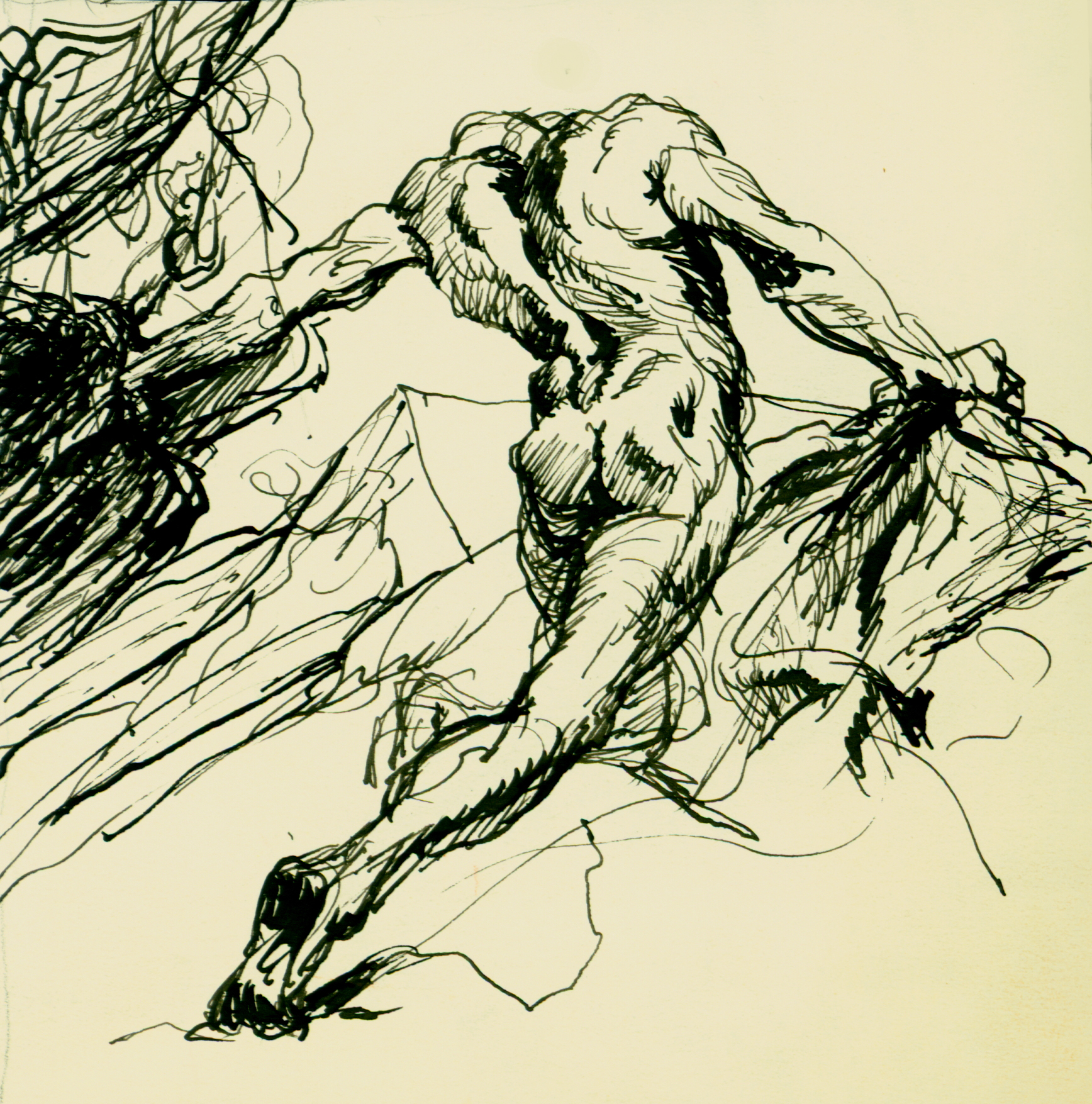 <font size='3' font color='gray'>MAN.  (pen & ink, 5 x 5)