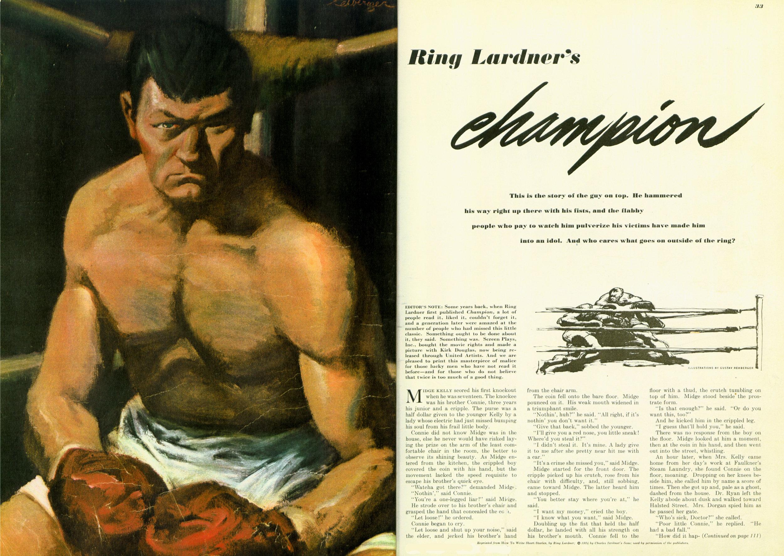 July 1949 - Ring Lardner's Champion
