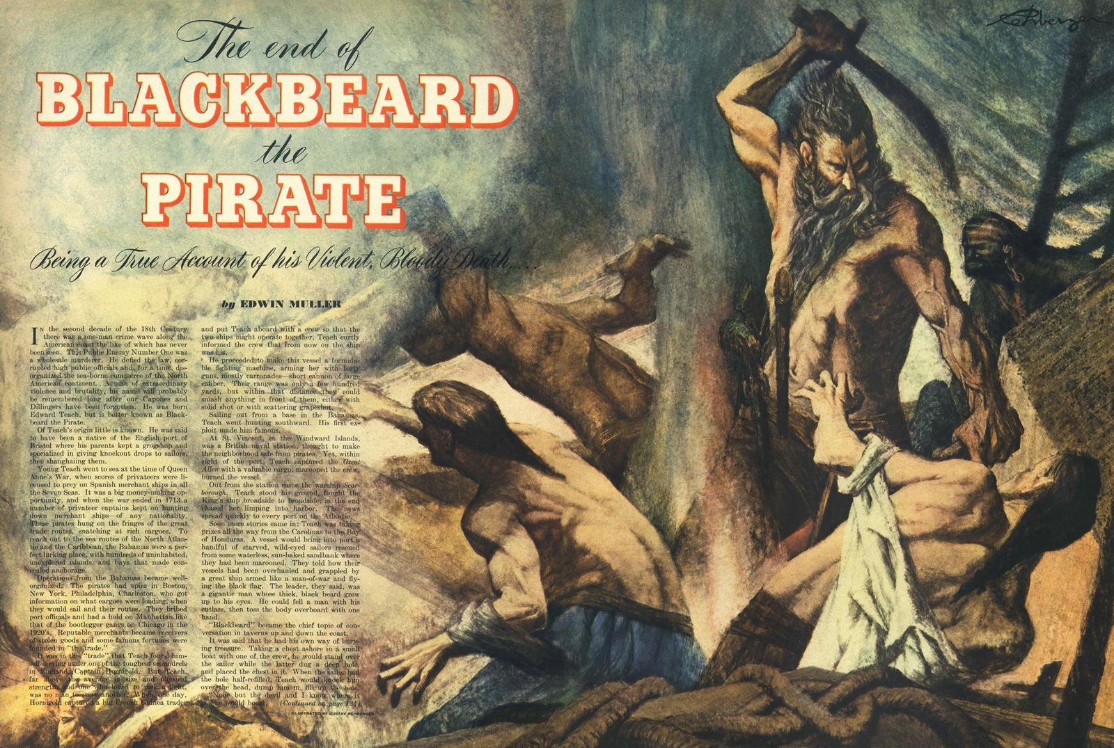 September 1950 - The End of Blackbeard the Pirate