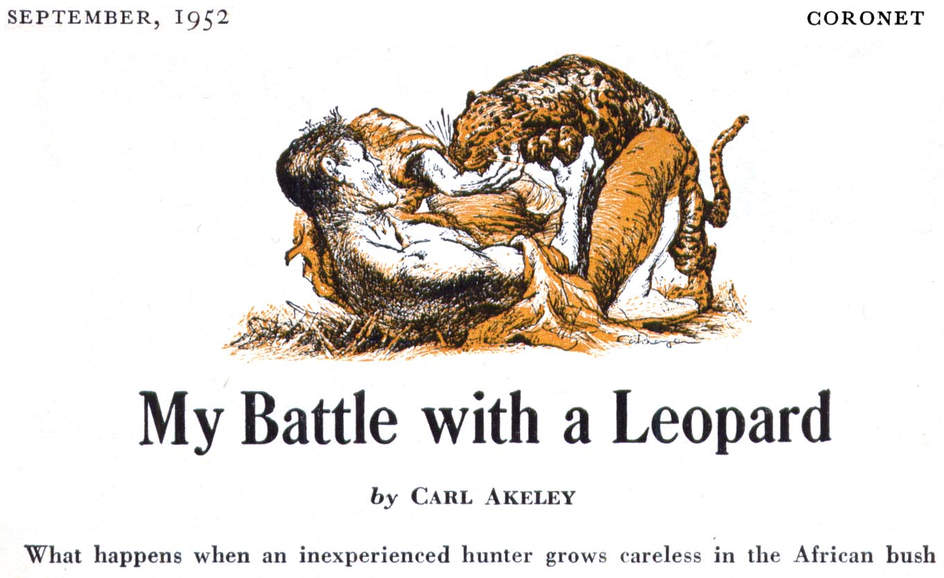 September 1952 - My Battle with a Leopard