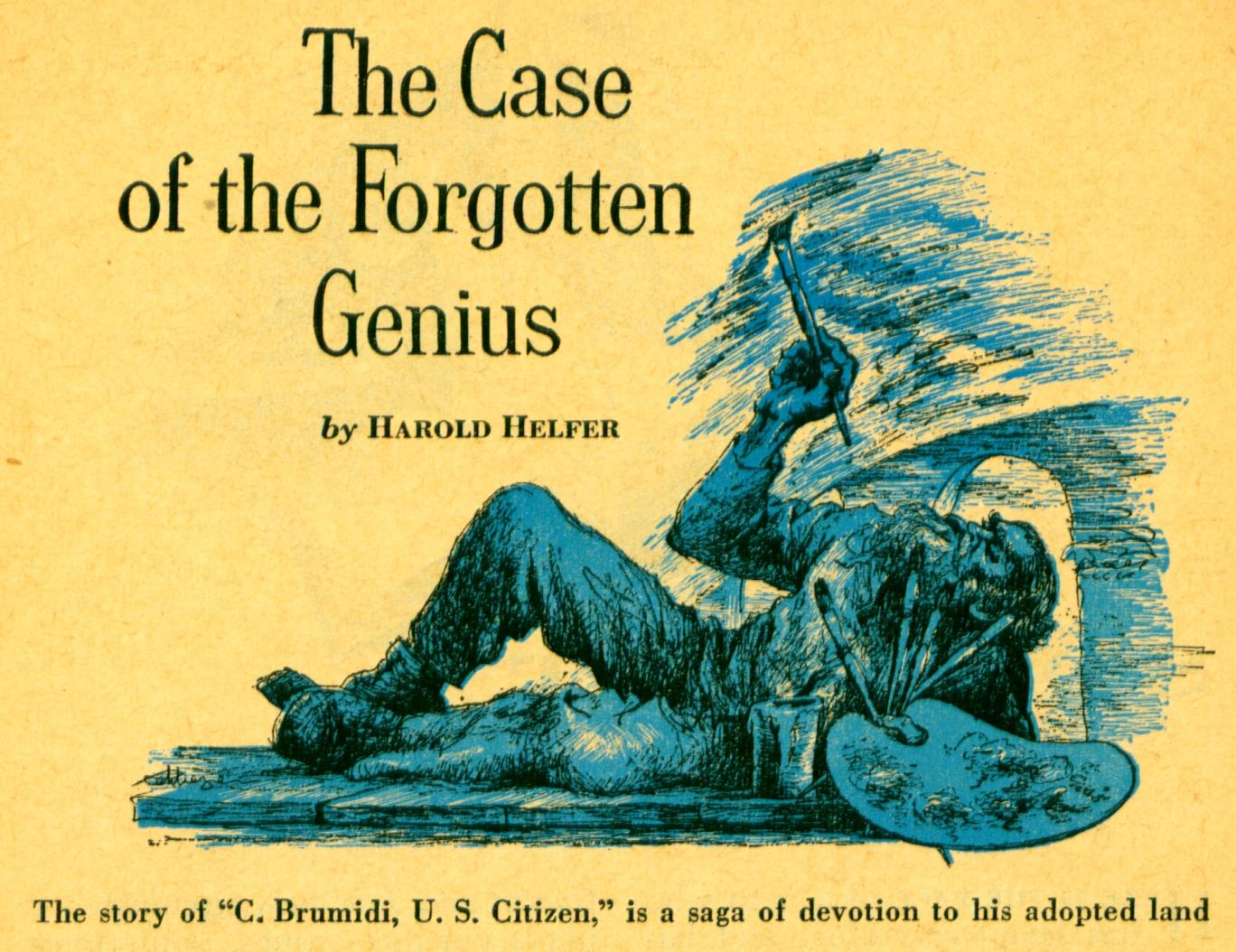 April 1952 - The Case of the Forgotten Genius
