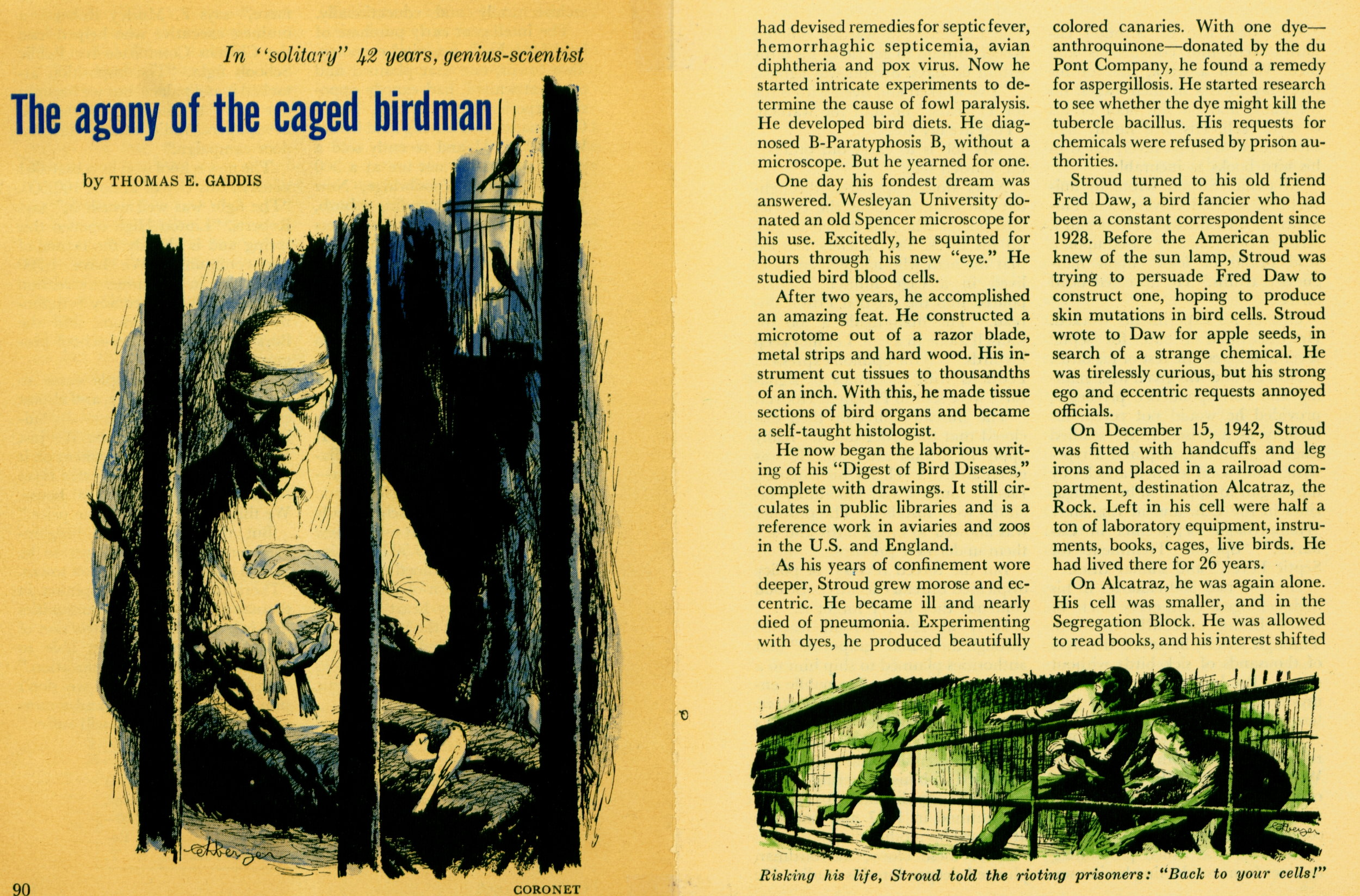 October 1958 - The Agony of the Caged Birdman
