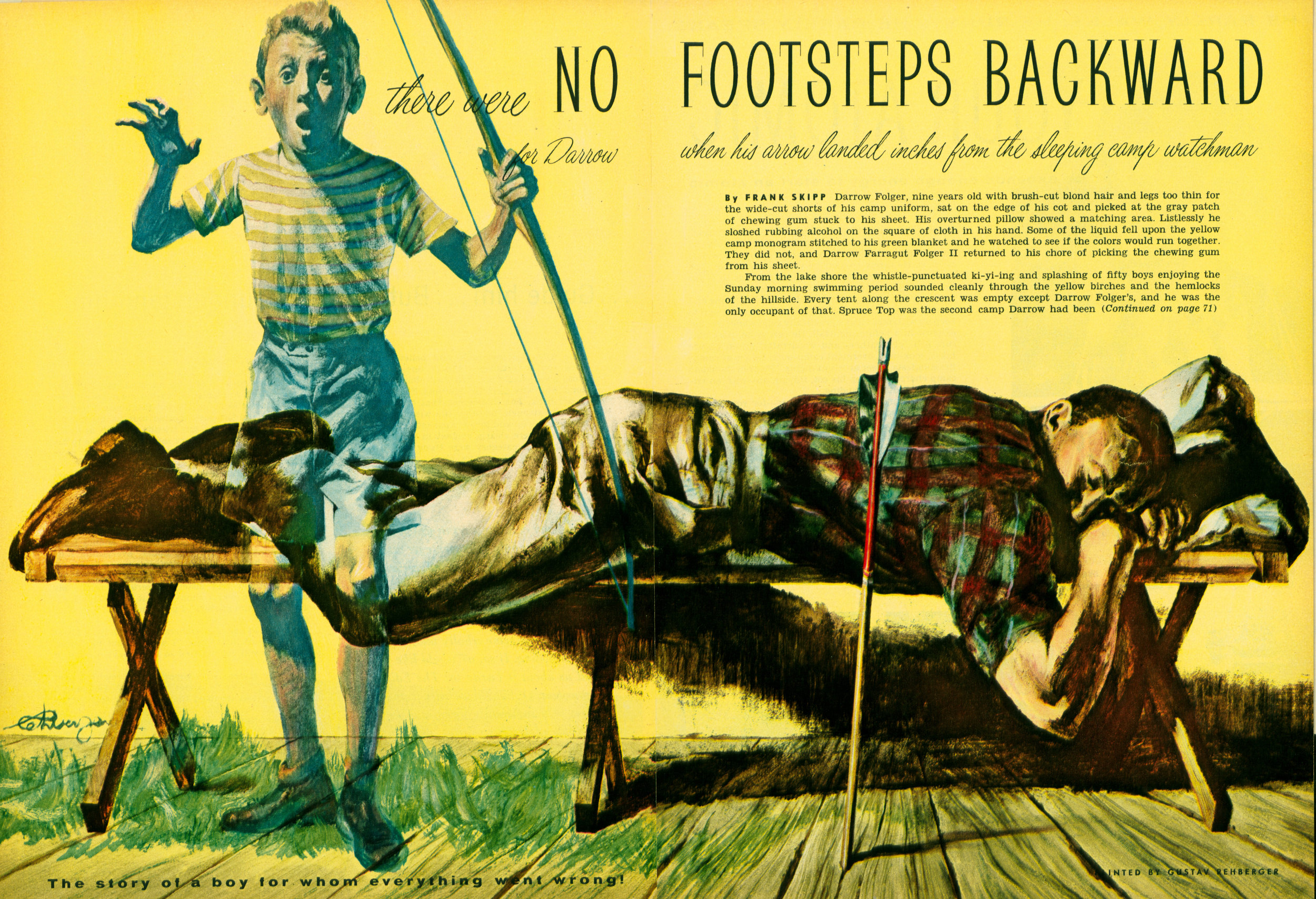 July 1955 - No Footsteps Backward