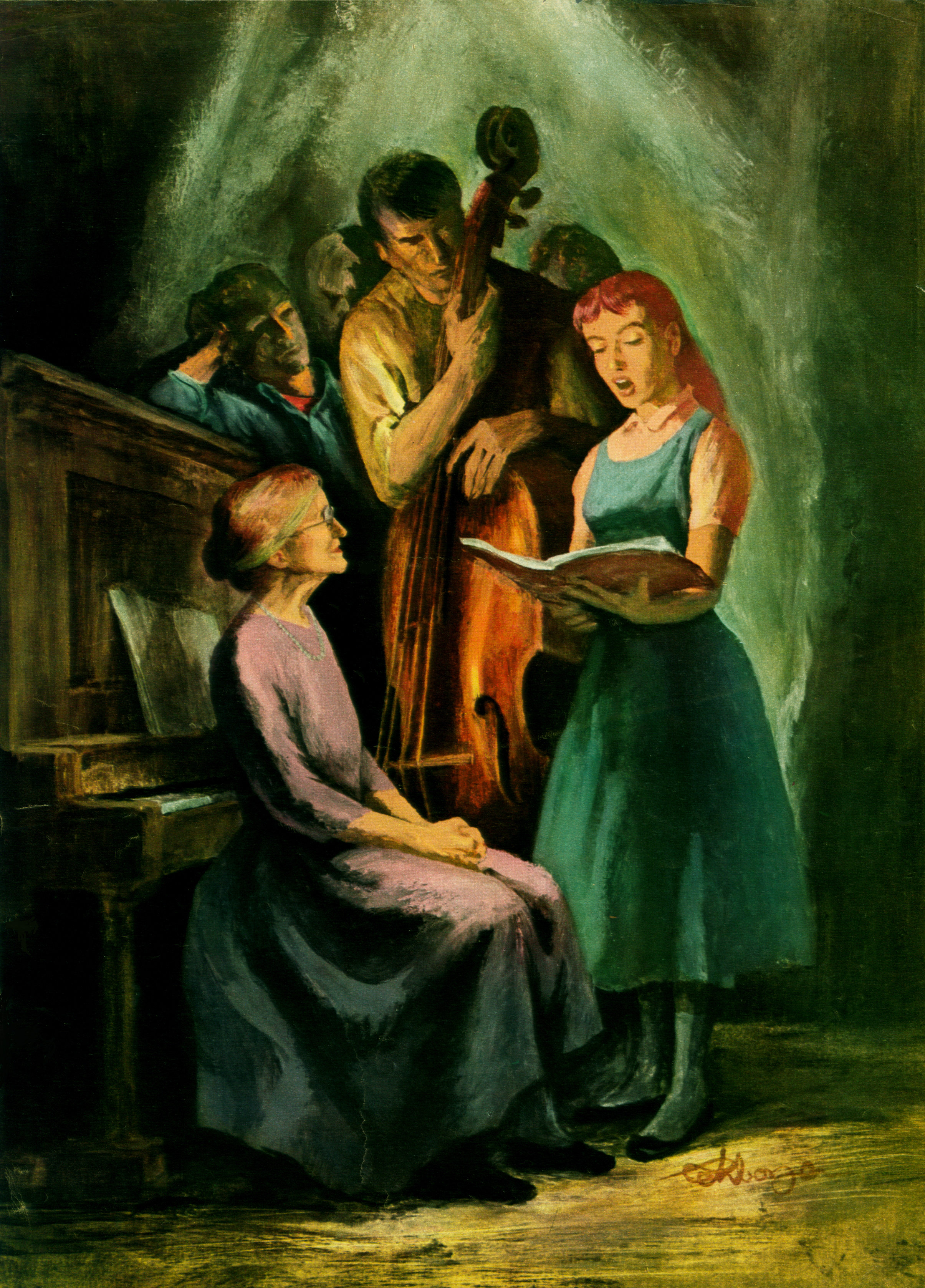February  1957 - Mother and Her Good Voice
