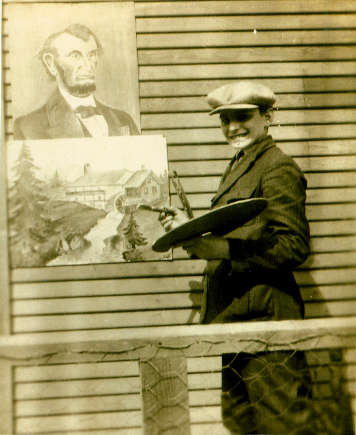 1924 - Chicago - Painting Scene from Memory of Riedlingsdorf