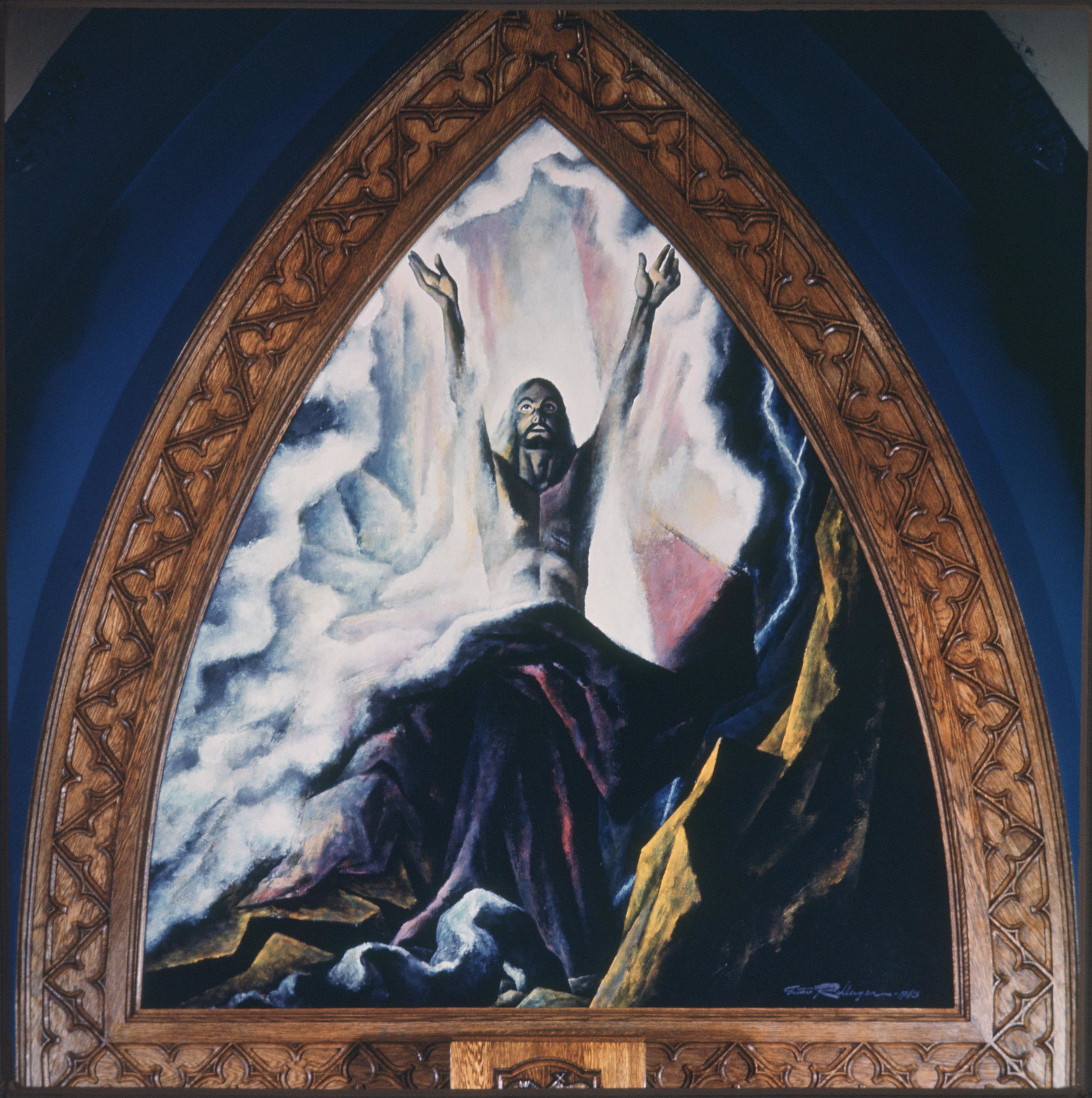 "1943 - ""The Triumph of Life"" - St. Paul's Evangelical Lutheran Church, Chicago, IL (Oil, 10 ft.)"