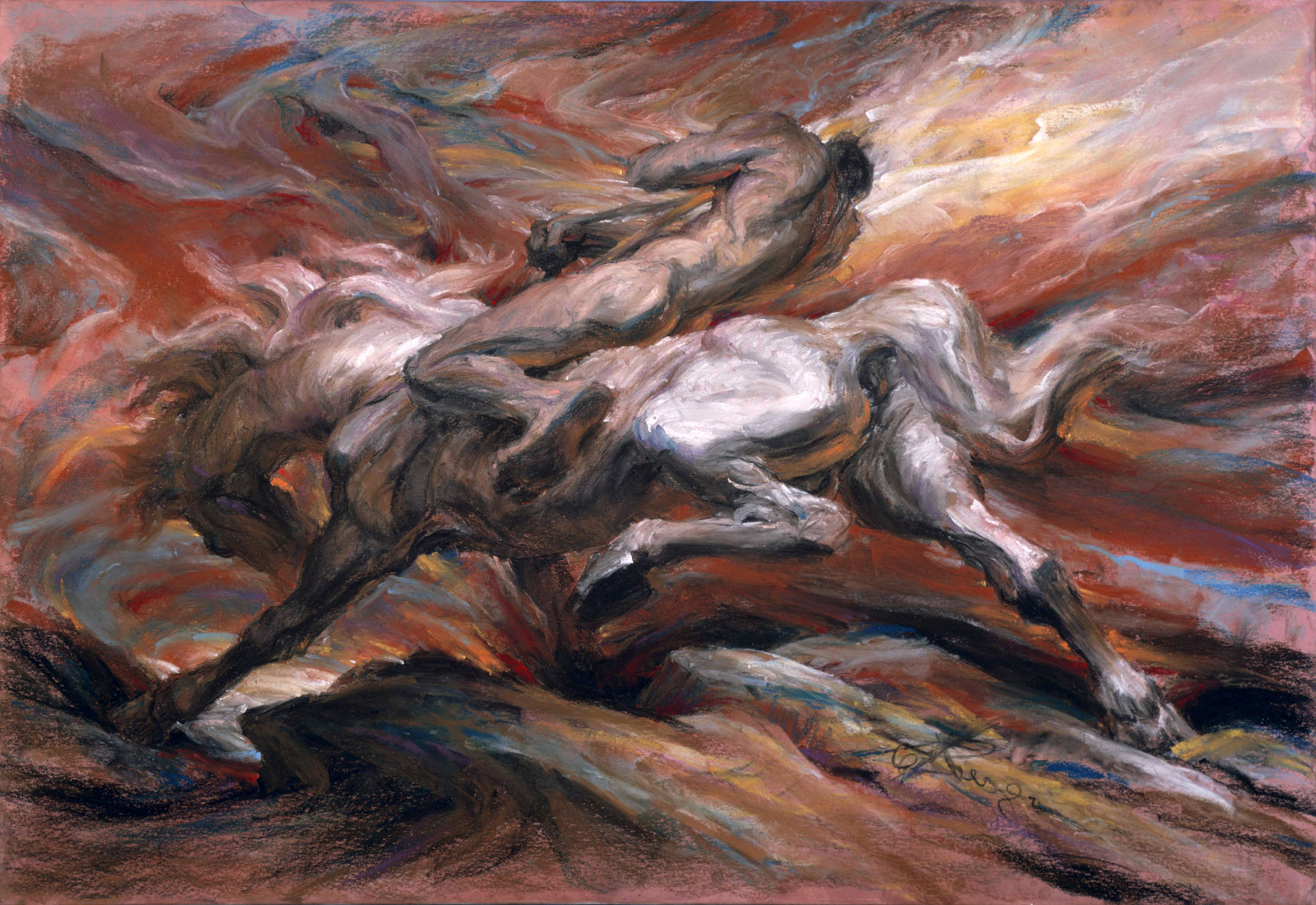(Pastel, 42 x 64 in.)