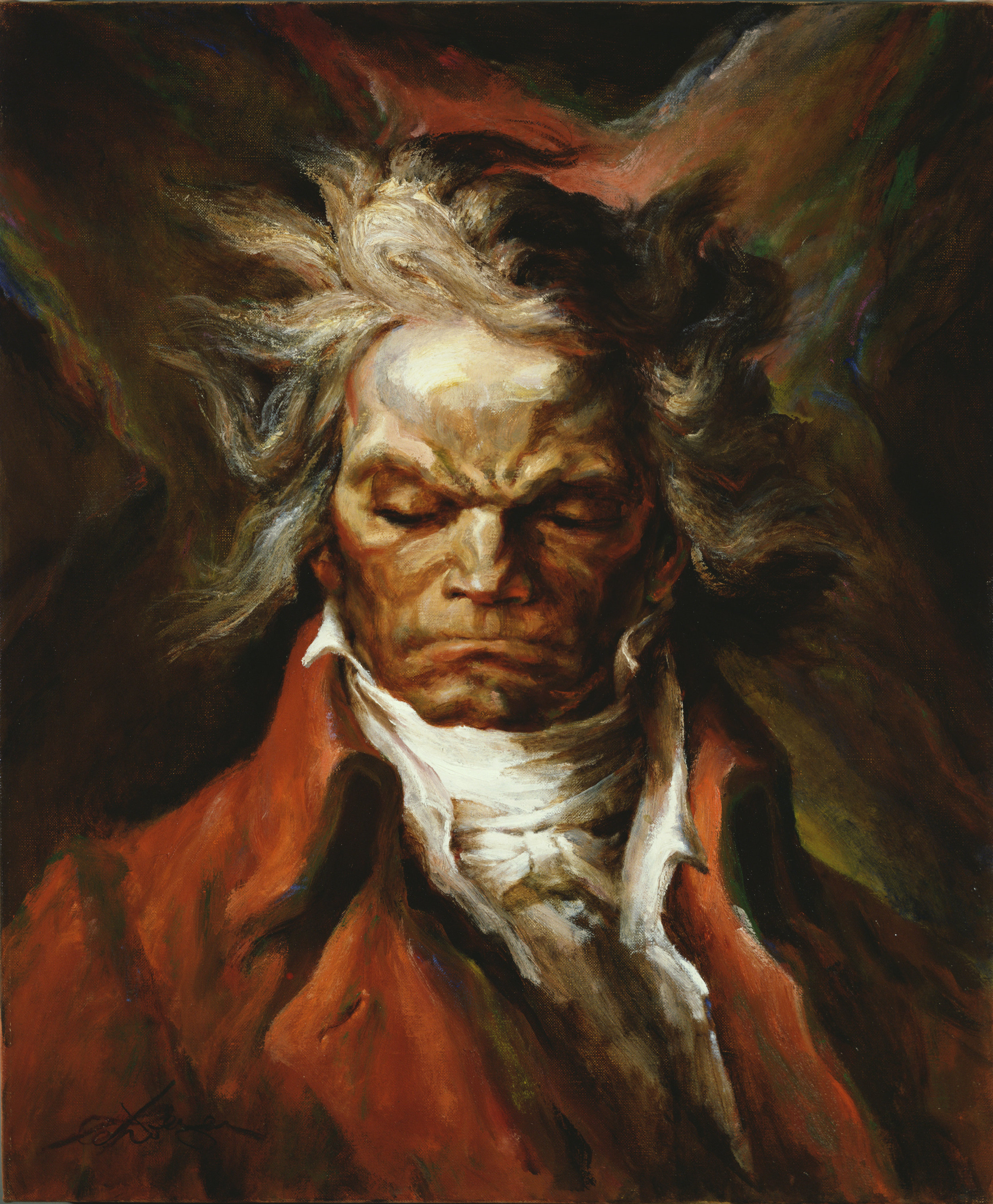 Painted for The Beethoven Society (Oil on Canvas, 24 x 20 in.)