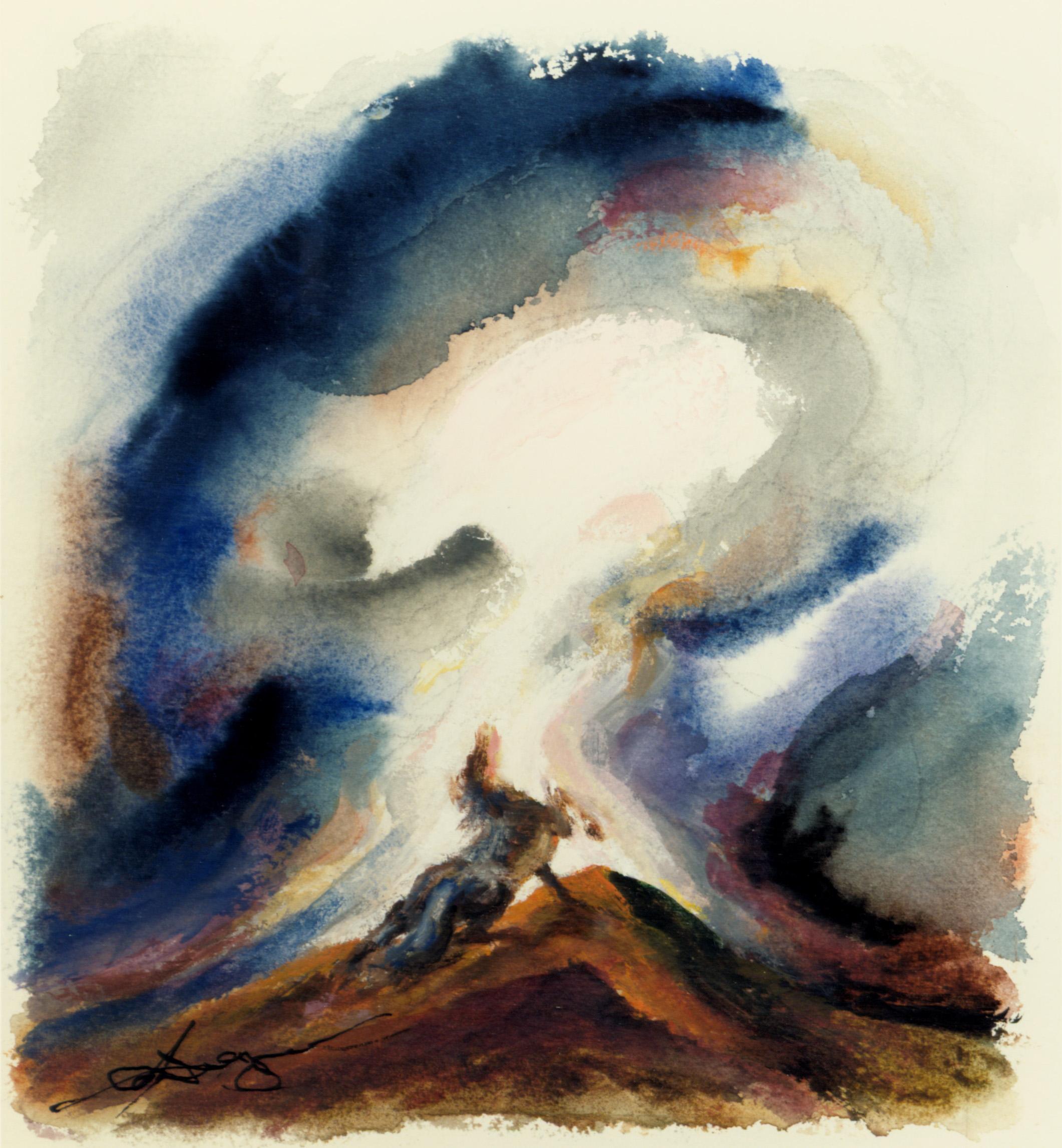 (Watercolor, Gouache, 10 x 9 in.)