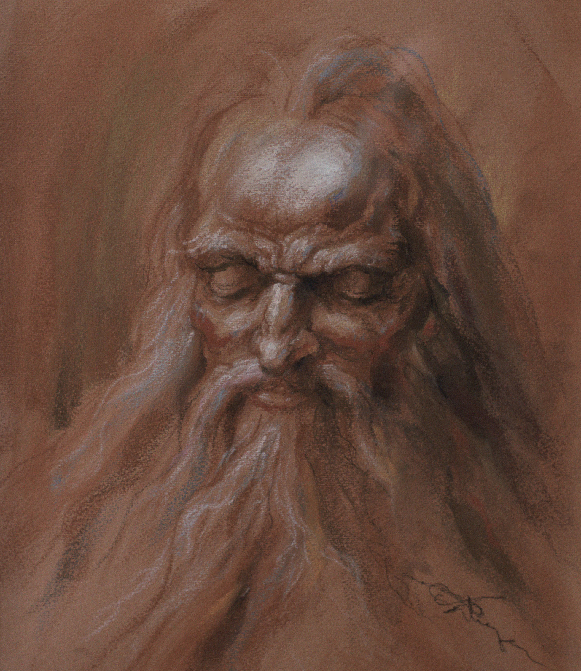 (Pastel, 14 x 11 in.)