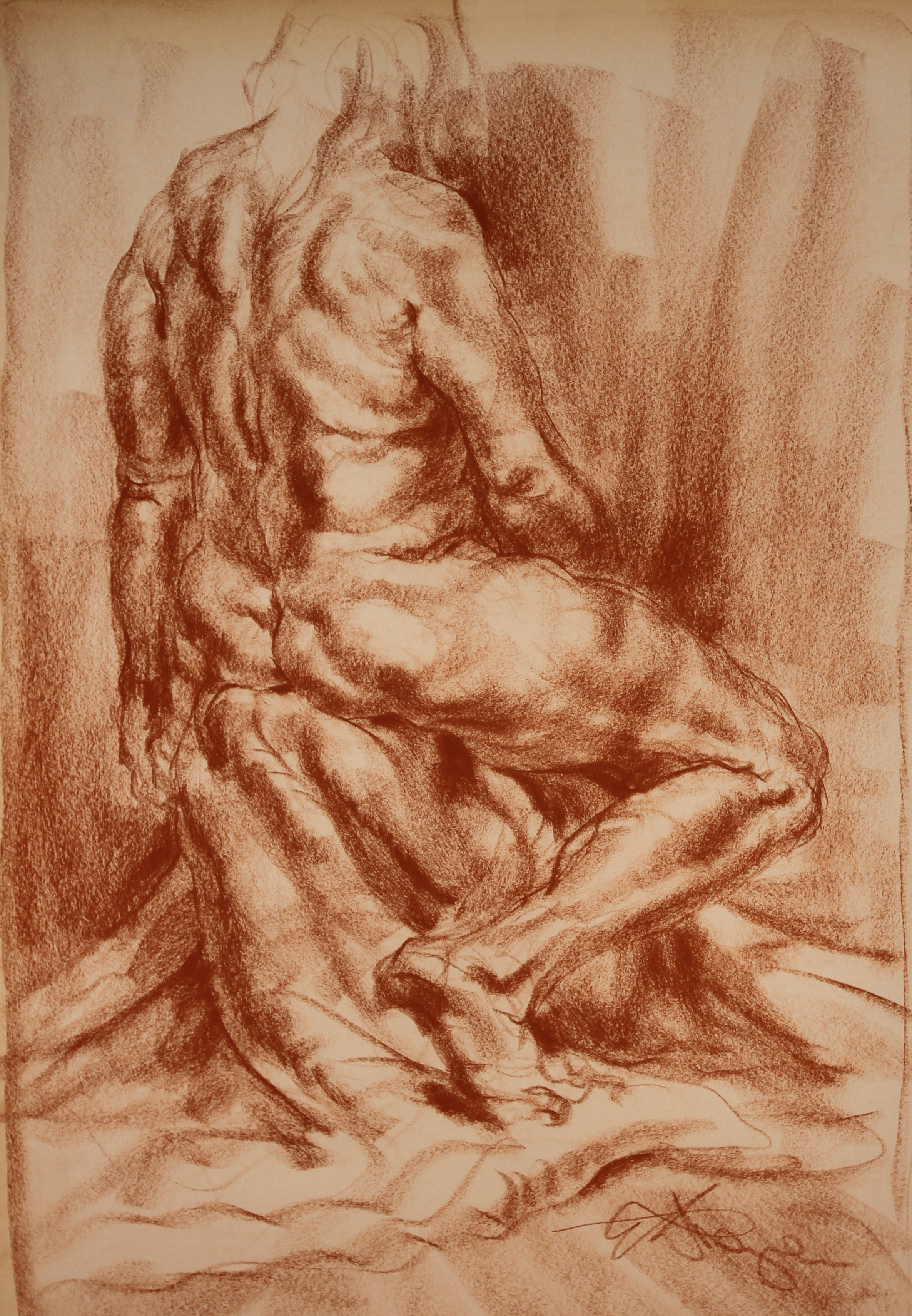 WOMAN SITTING, Back View  Sig. l. r.  (2).JPG