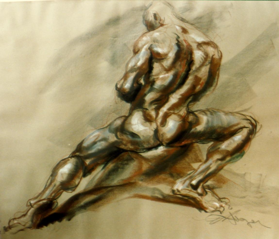 30 Minute Demonstration (Chalk, 41 x 47 in.) 1986