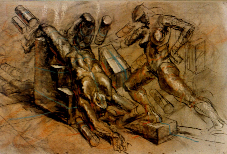 Foreshortening (Chalk, 4 x 8 ft.) 1985