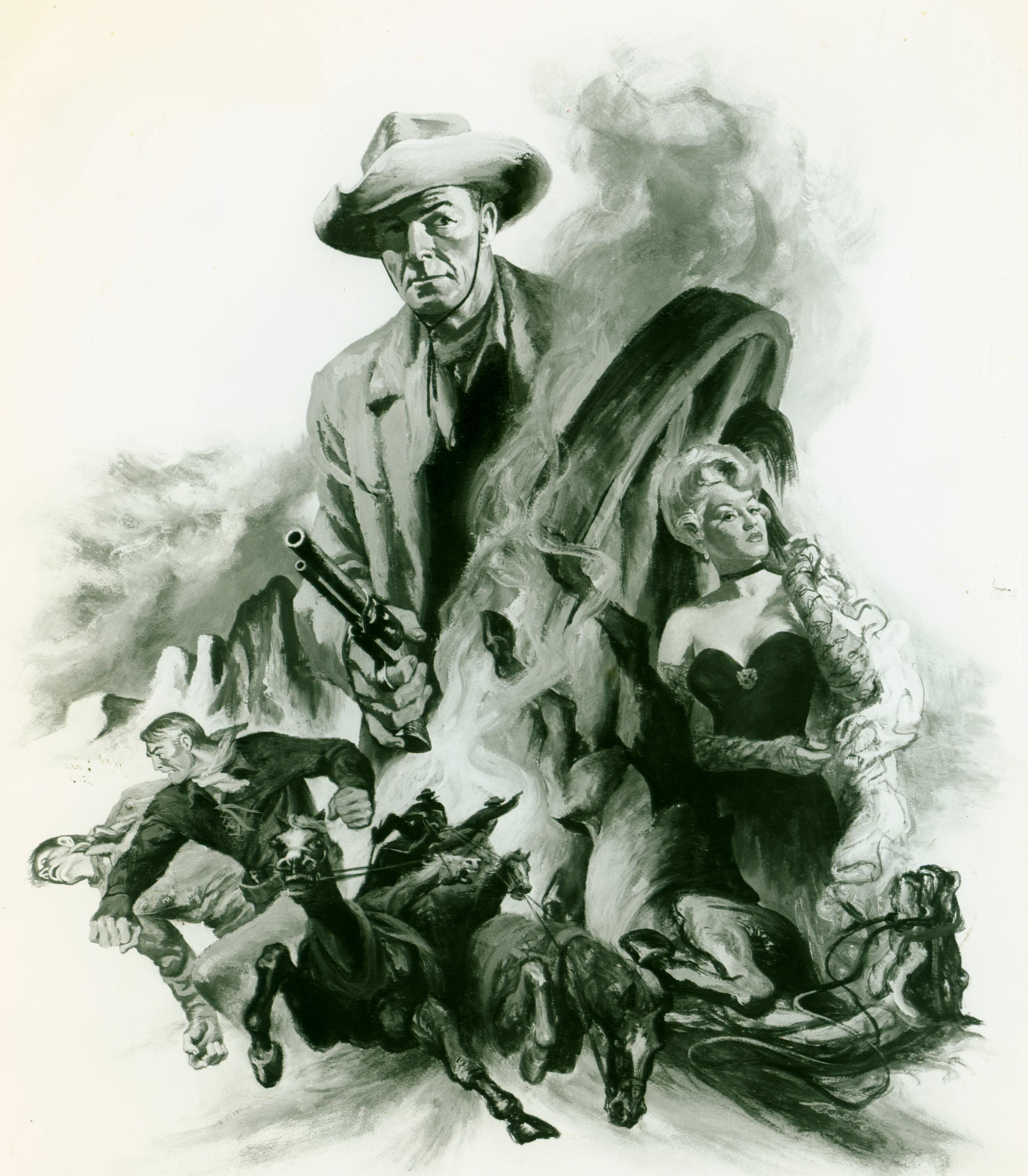 """The Stranger Wore a Gun"" starring Randolph Scott (Columbia Pictures)"