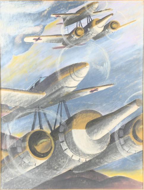 """Mistel Eins"" (Mistletoe One), 1945 (Pastel, 38 x 29.5 in.)"
