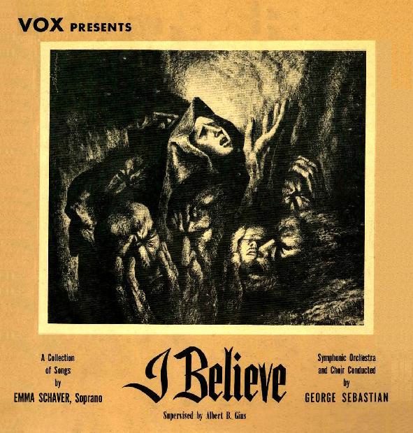 """""""I Believe"""" Album Cover, c. 1950"""