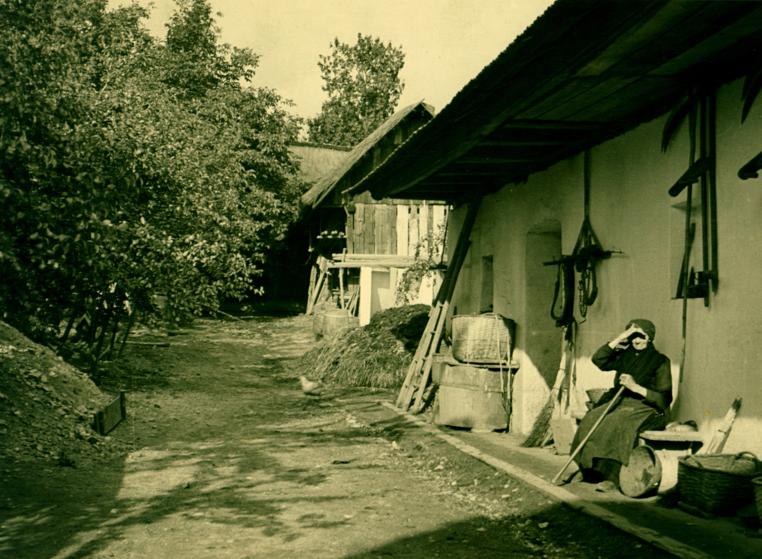 Theresia Piff, Gustav's maternal grandmother's house (Photo by Gustav Rehberger in 1937)
