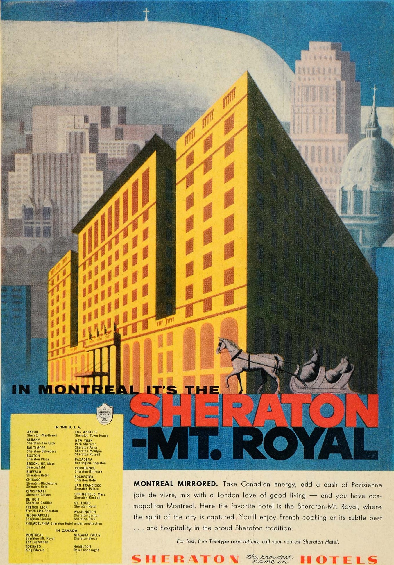 1956 - The Sheraton Mt. Royal in Montreal