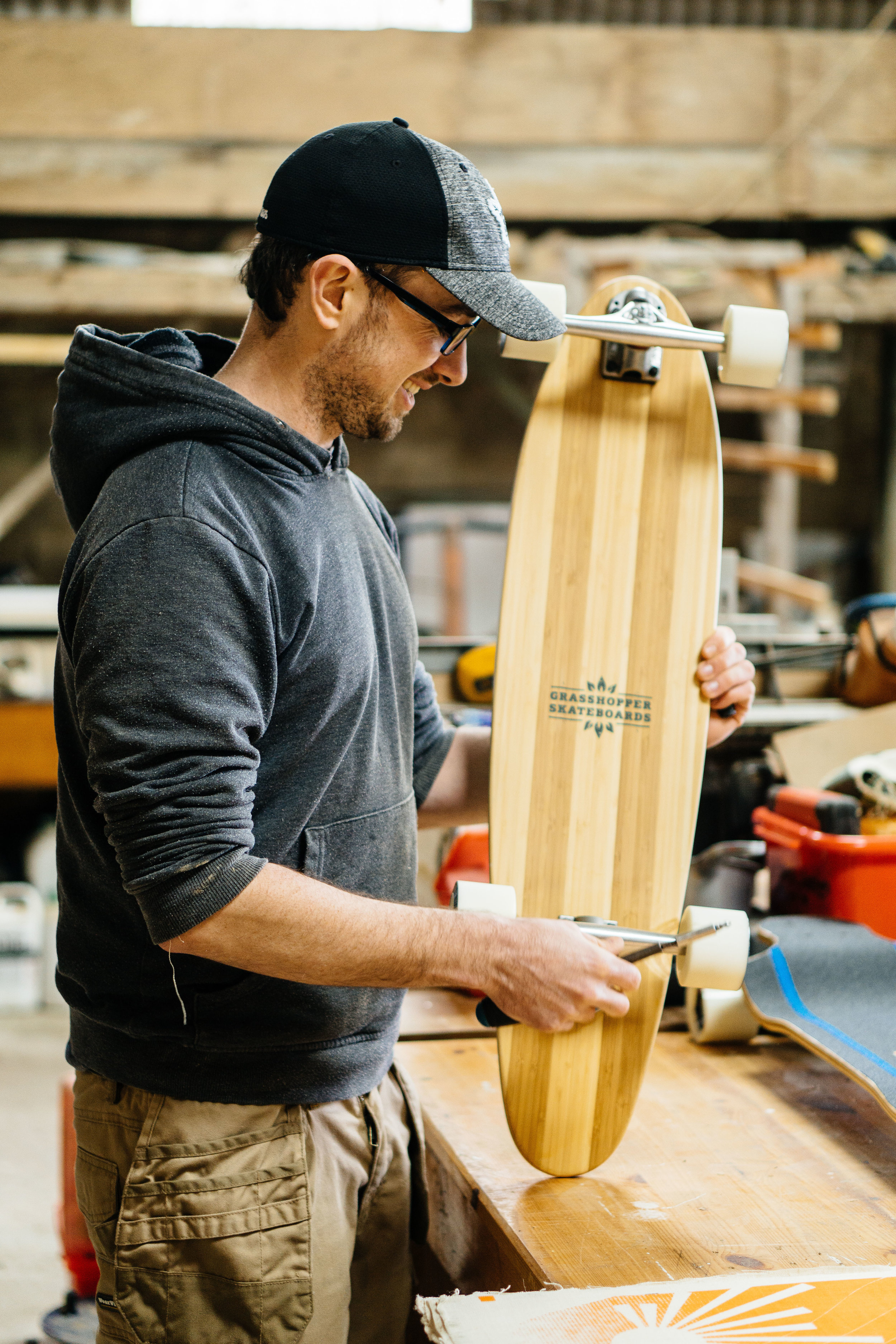 Grasshopper Skateboards - Grasshopper Skateboards was founded in 2015, with a mission to build higher quality skateboards while greatly reducing the environmental impact of skateboard production.