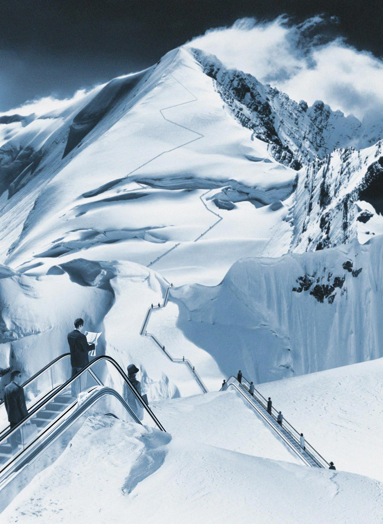 escalators-up-snowy-mountains