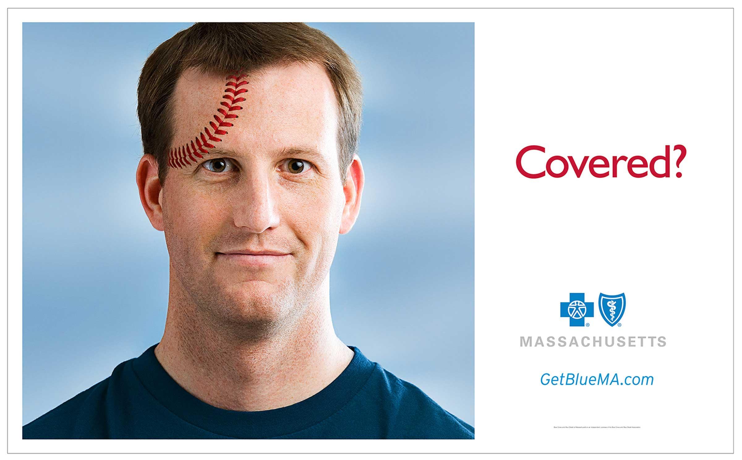 Blue Cross/Blue Shield MA • baseball-head
