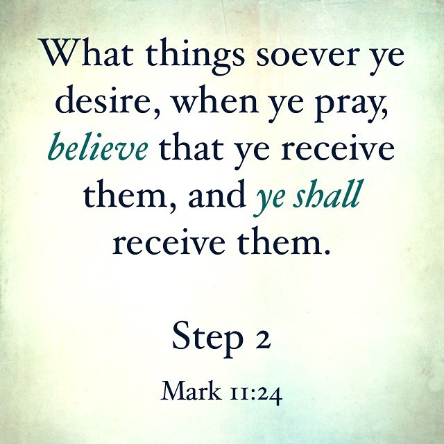 Step two is about believing that Christ can heal us. It goes with Step 7 also - ask and believe that He can and will remove our character defects.