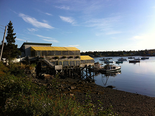 Thurston's Lobster Pound , on the water of Bass Harbor in Bernard, Maine.