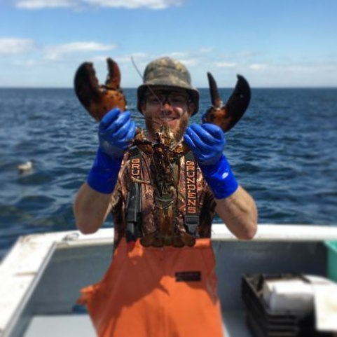 Lobsterman in Bass Harbor, Maine