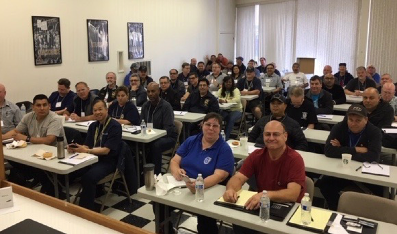 UAL Shop Stewards from SFO attend training on July 31st, 2019