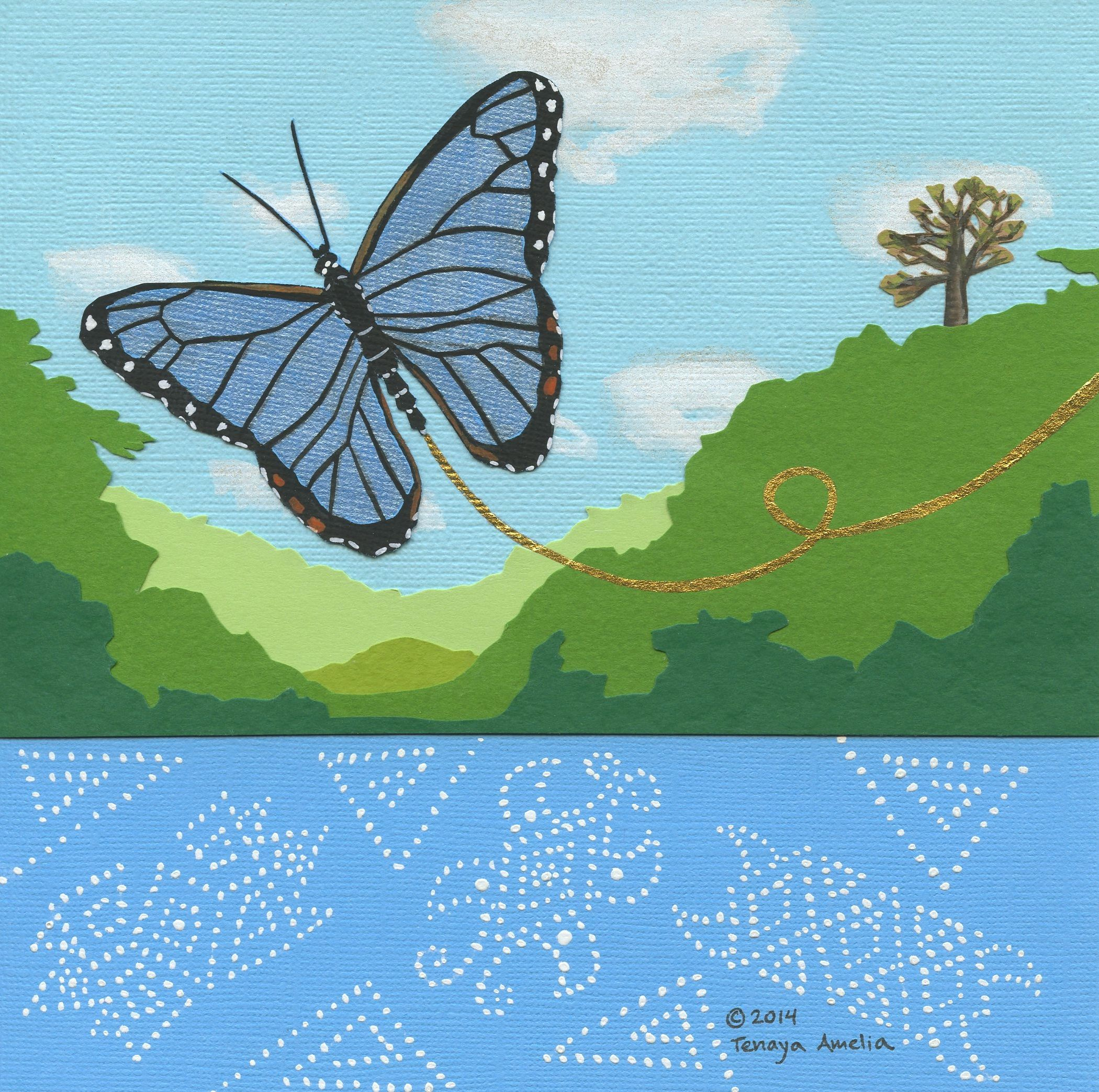 Blue Morpho Butterly~ Greeting card