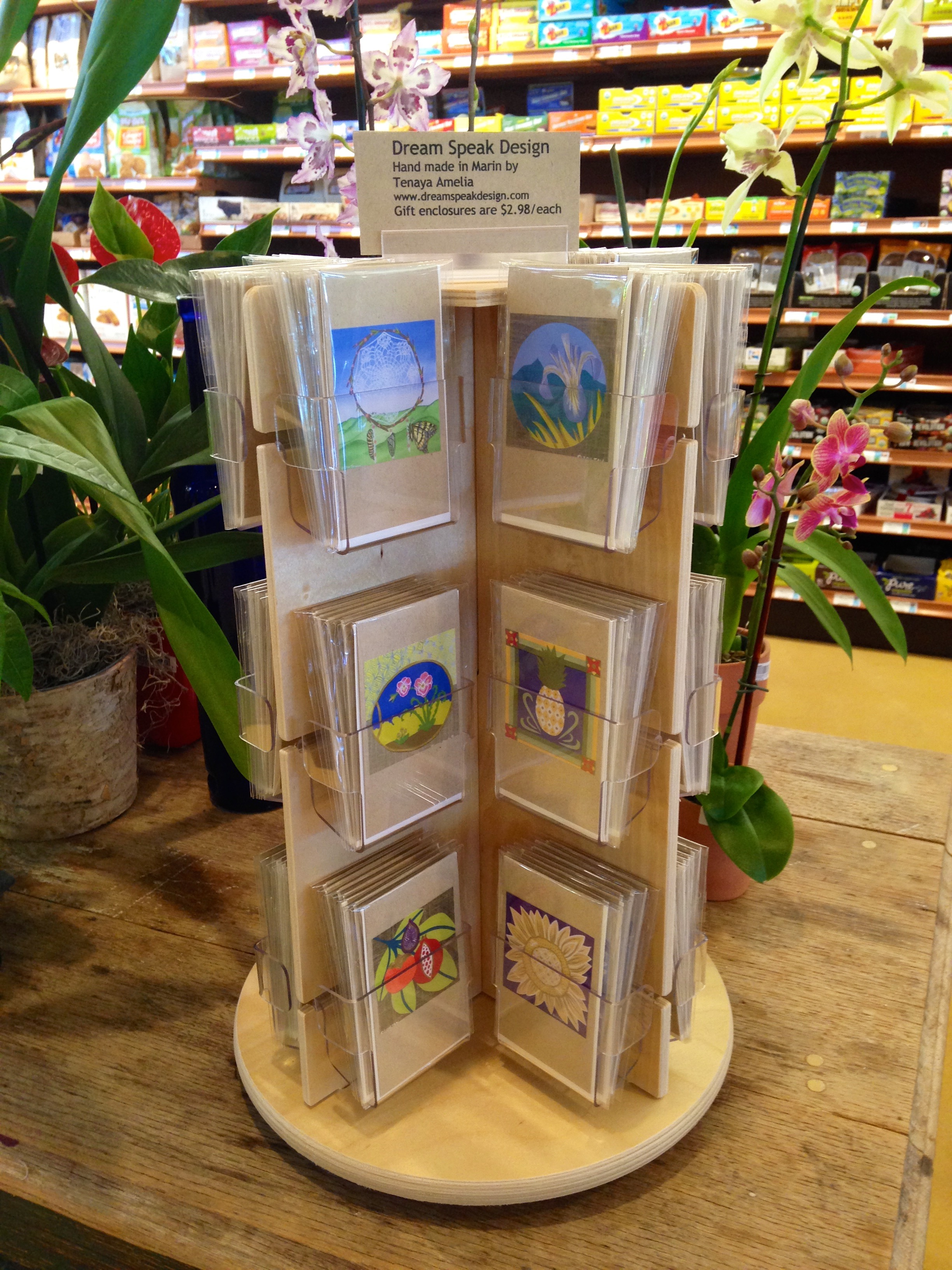 Cards at Good Earth Natural Foods in Fairfax, CA