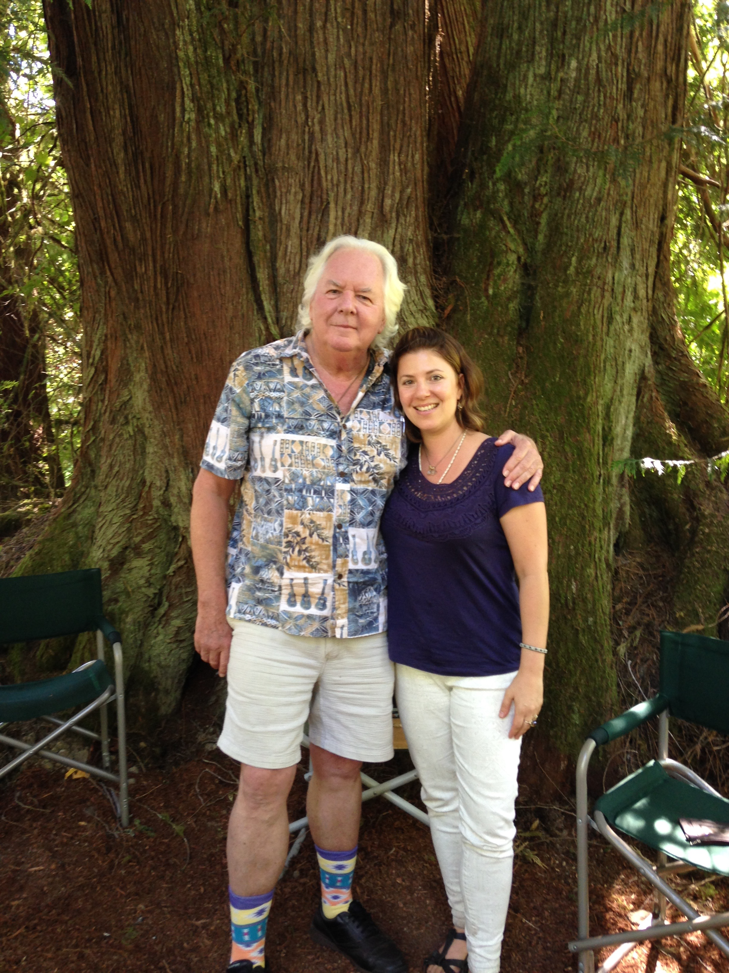 With Robert Moss in the Cedar circle at Magical Mosswood Hollow at Dream Teacher Training