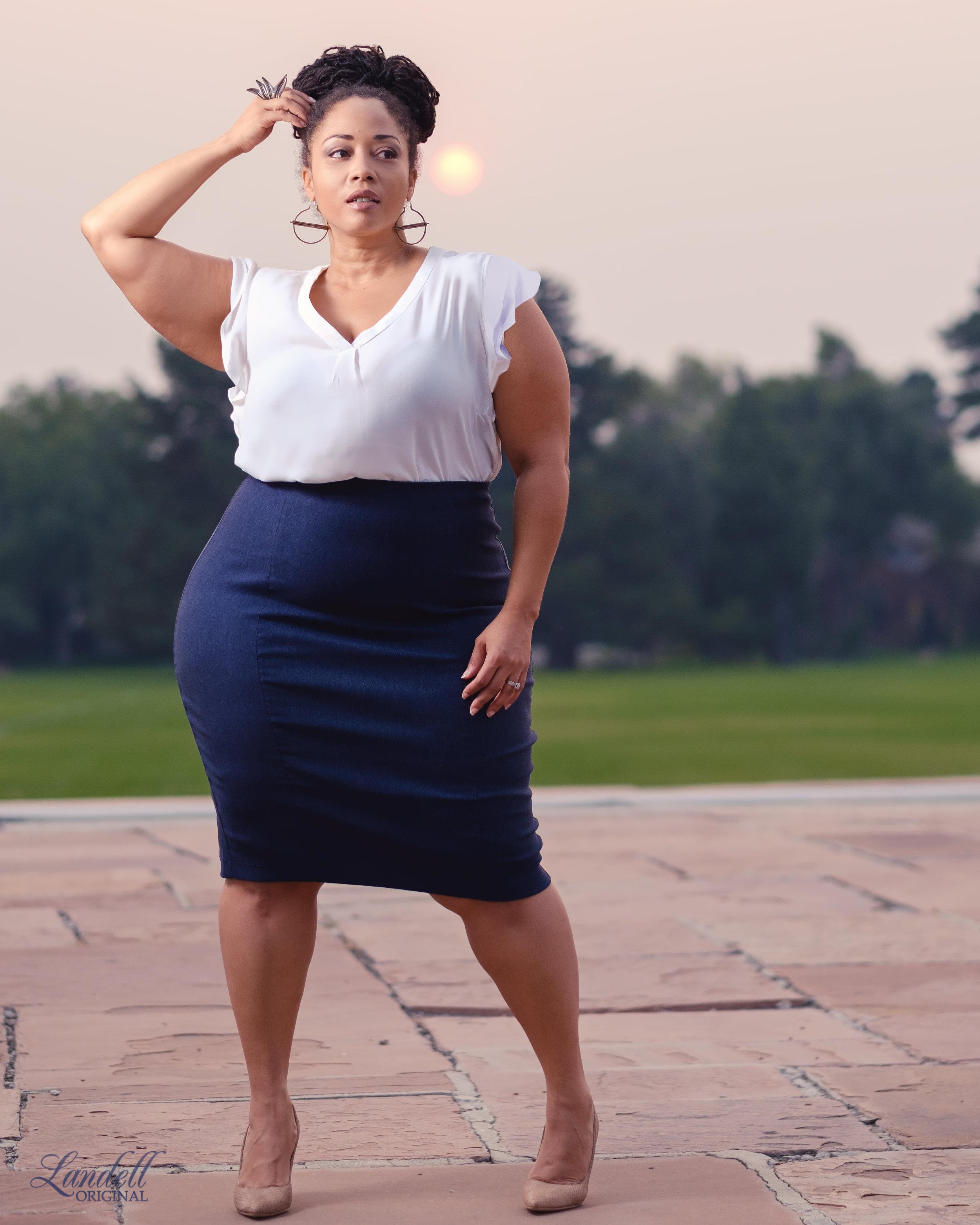 ...Look Details... - Top: Philosophy (Nordstrom Rack)Skirt: AdditionElle via Gwynnie BeeShoes: Nine WestEarrings: RusticThread