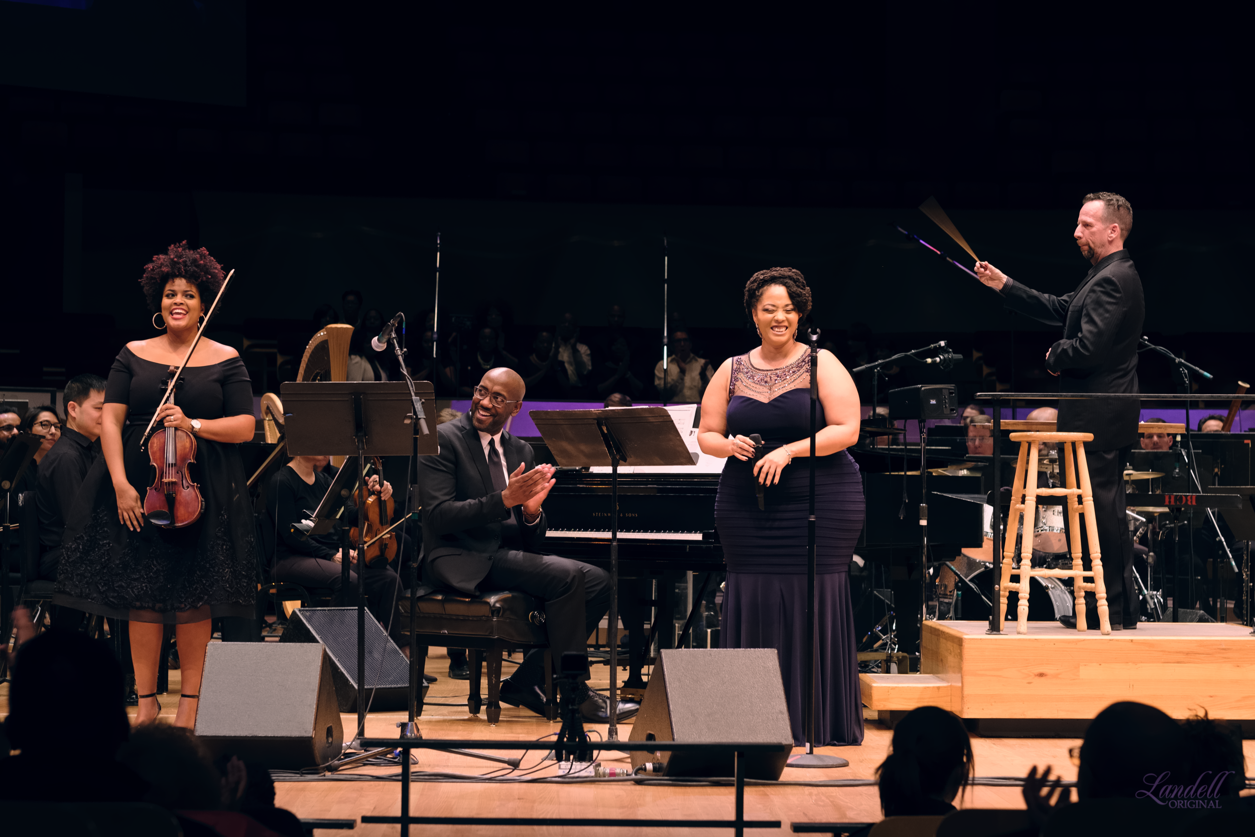 We were even blessed to be able to bring in the incredible violinist (and my bestie)  Monique Brooks-Roberts  to perform with us! (Pic:  Ryan Landell )