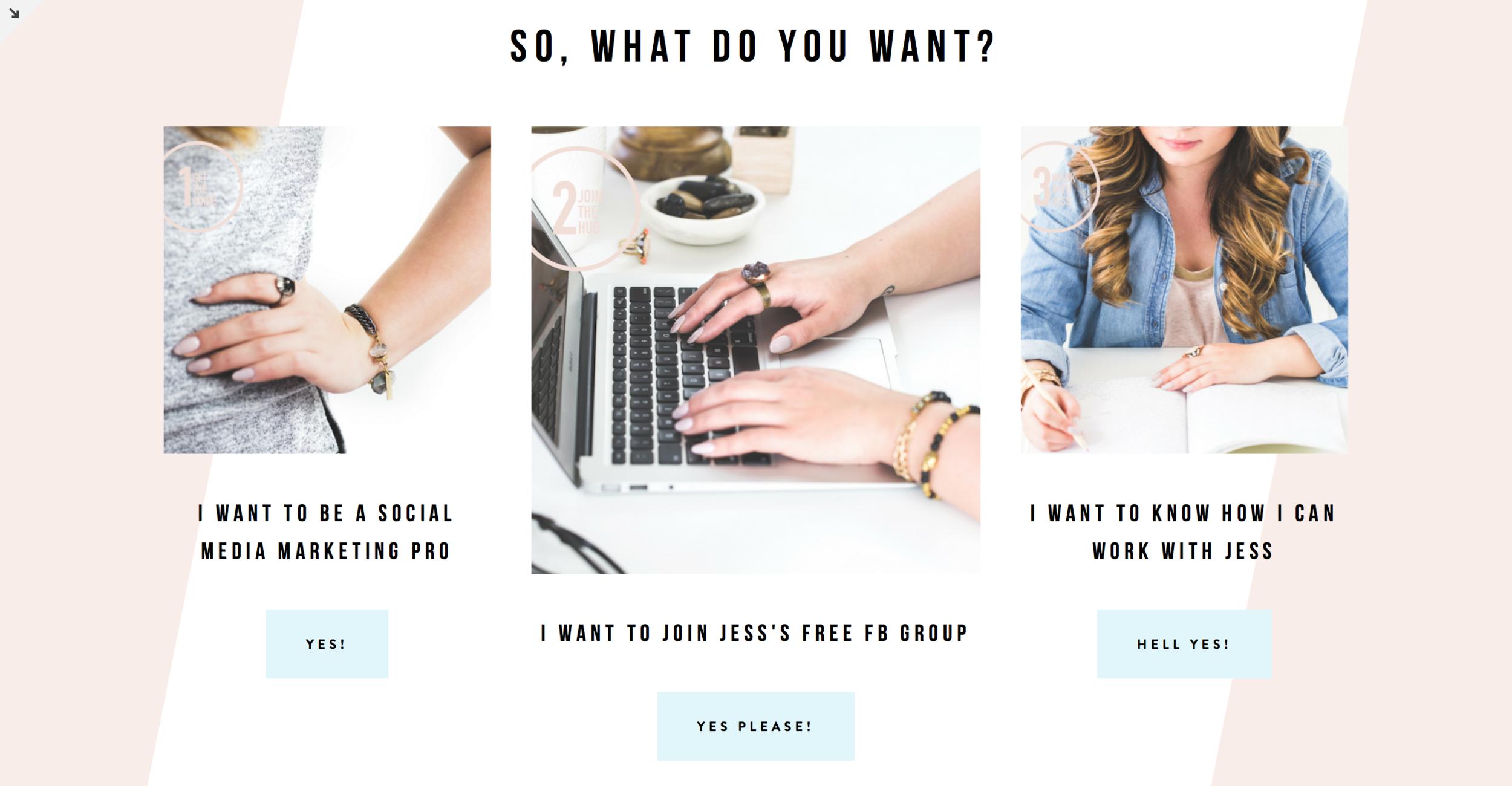 Jess Willman Website Menu
