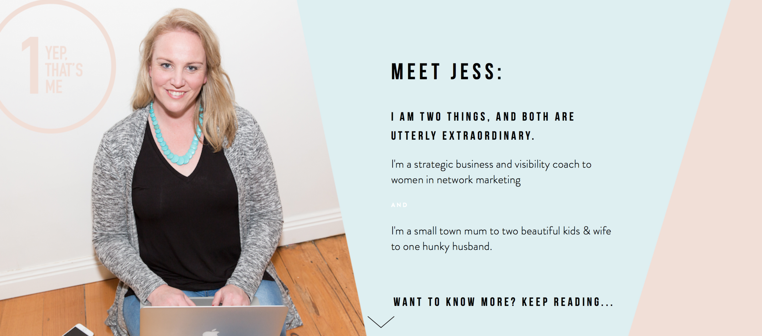 Jess Willman About Page Screenshot