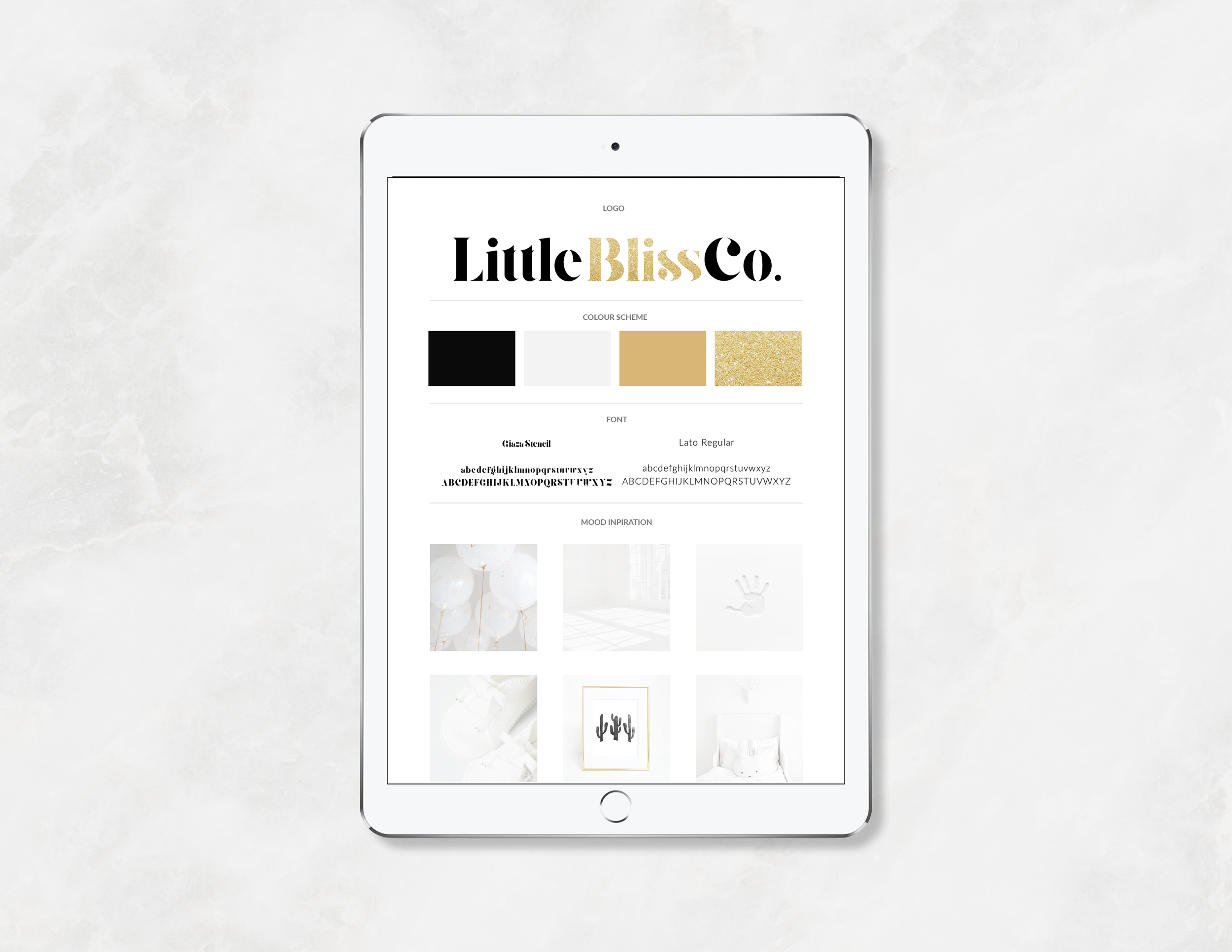 Little Bliss Co. Brand Board - Kira Hyde Creative