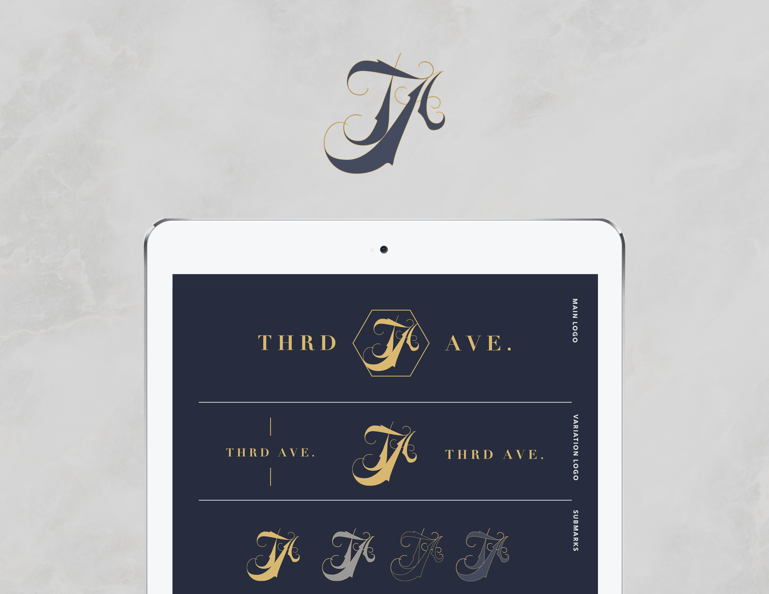 Third Ave. iPad Mockup - Kira Hyde Creative